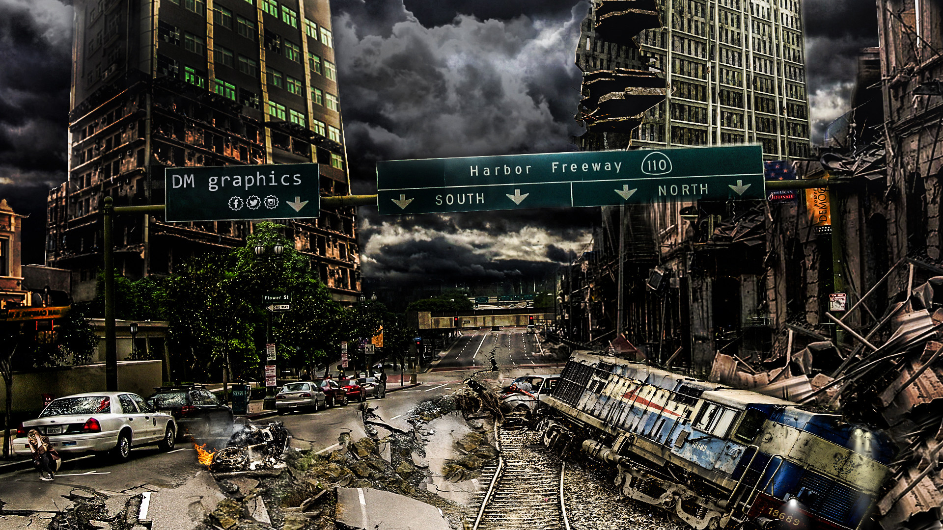 Destroyed City by DoubleMpics Destroyed City by DoubleMpics