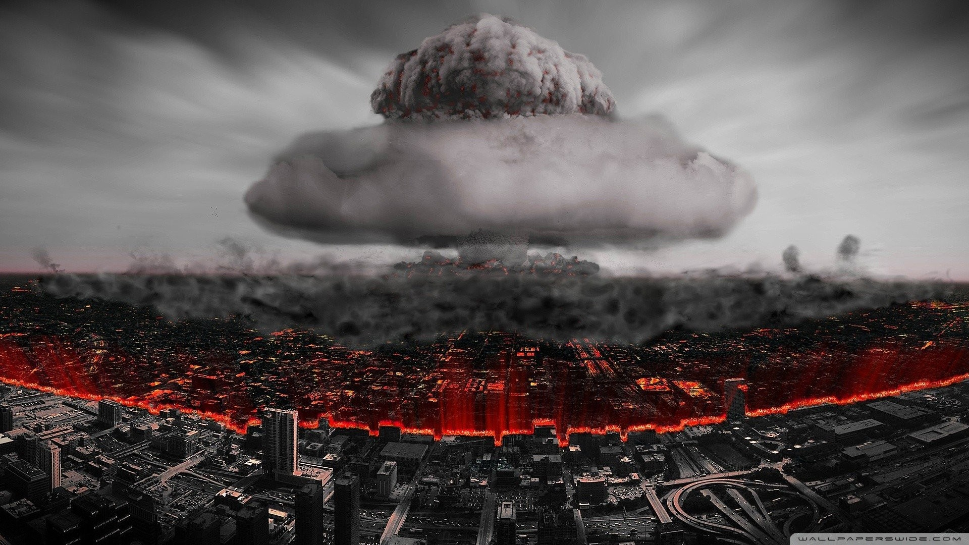 Bomb Cities Cityscapes Destroyed City Nuclear …