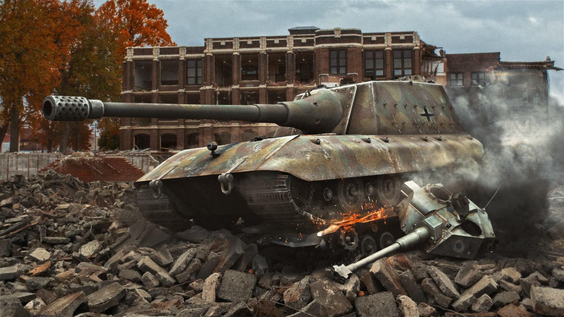 World of Tanks – Destroyed City wallpaper
