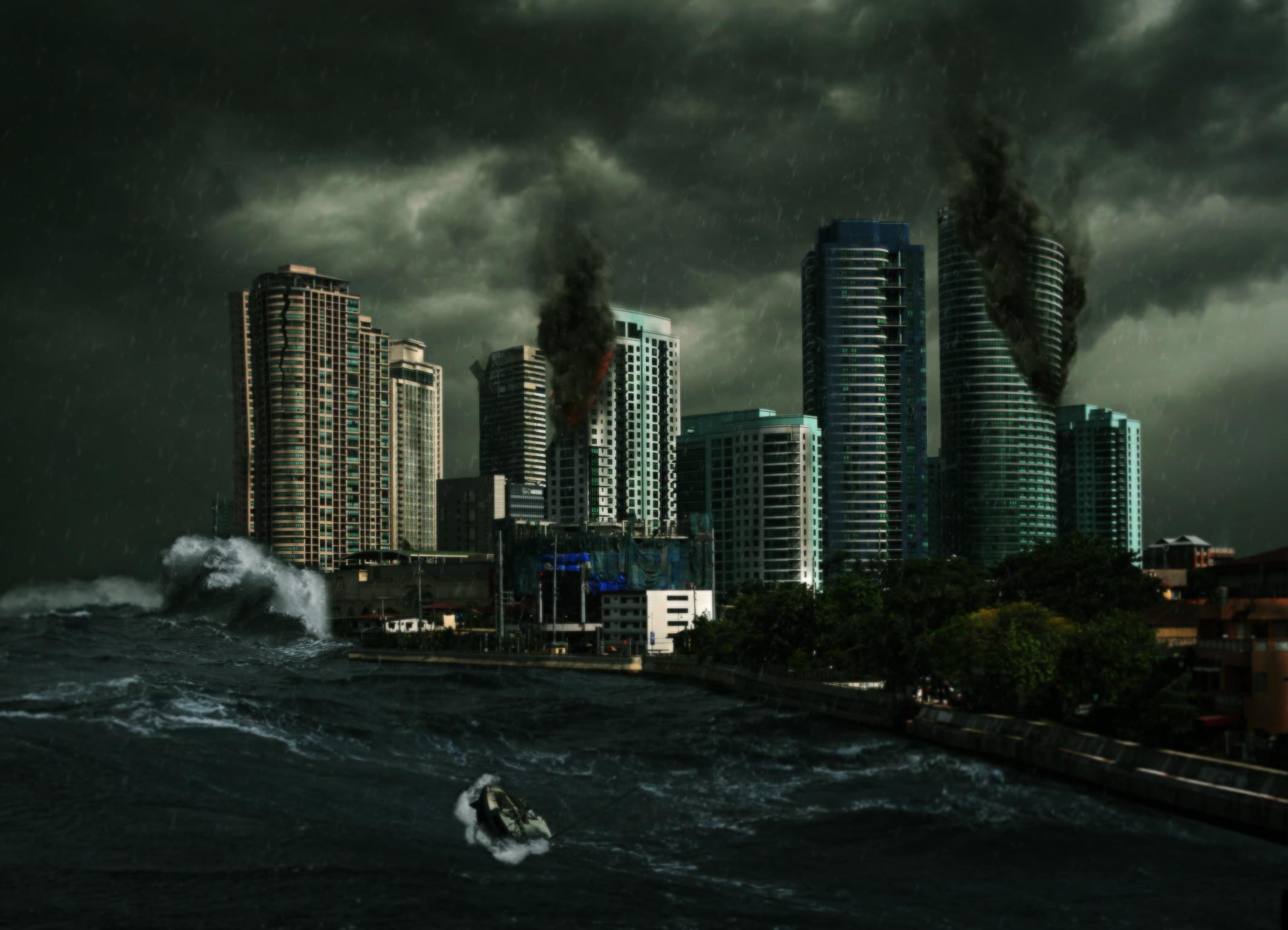 Destroyed City by Mequ Destroyed City by Mequ