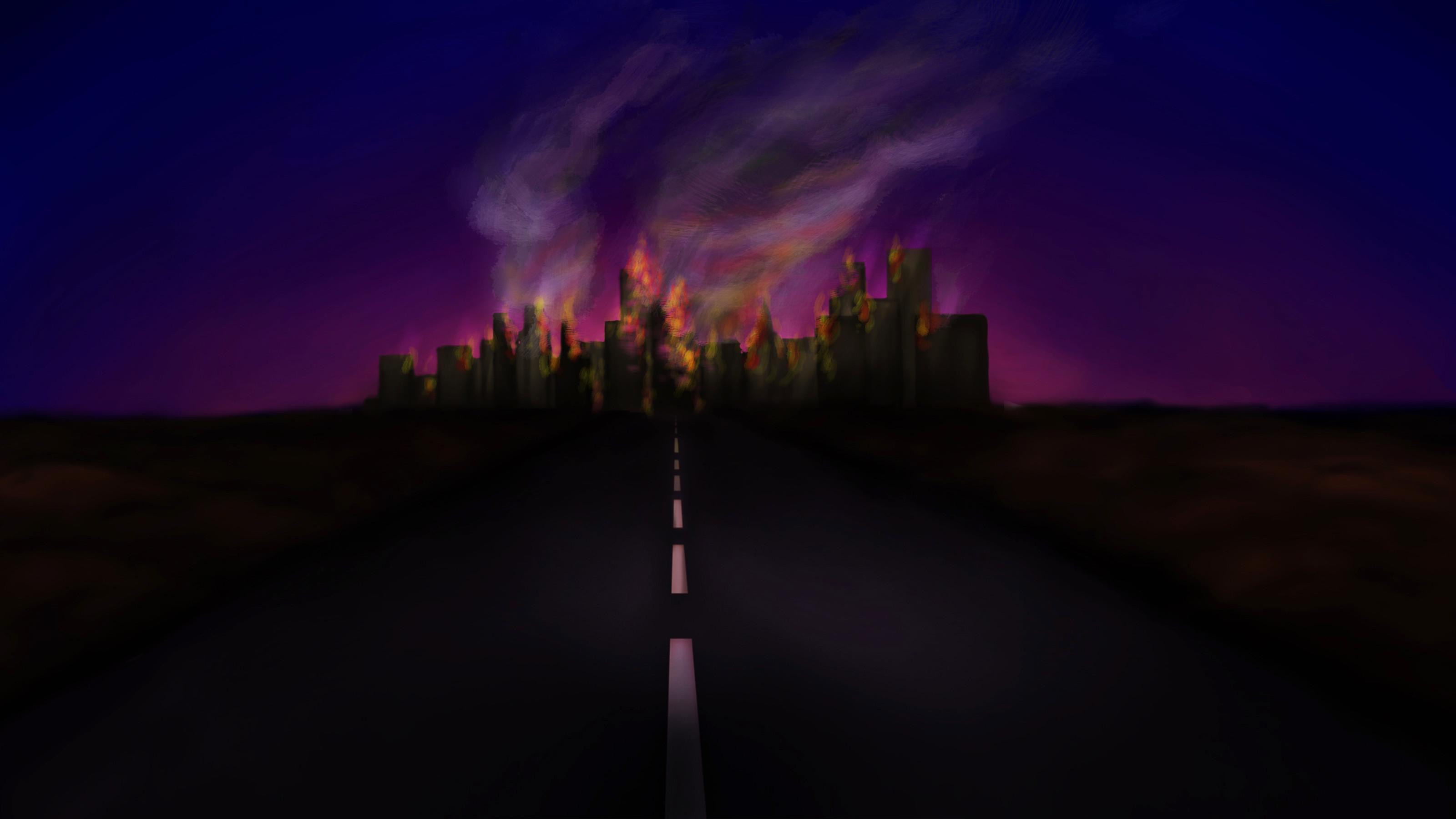 background city destroyed