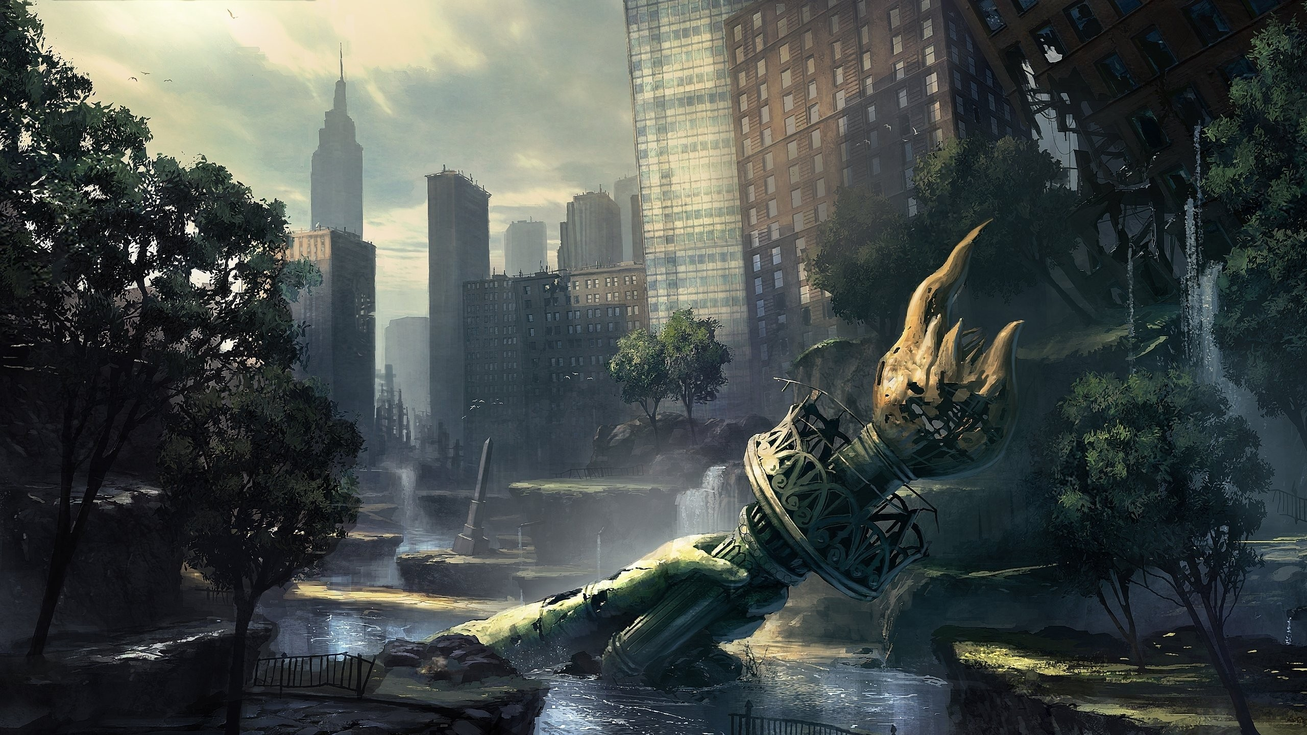 Video games ruins new york city artwork crysis 2 wallpaper