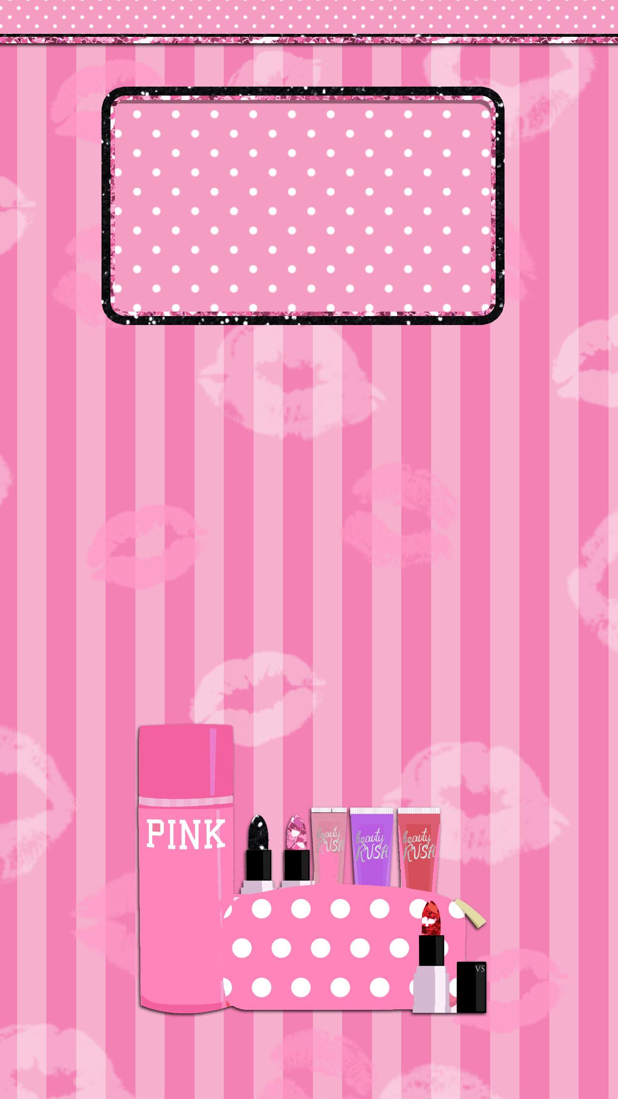 Pink-Victoria-Secret-Lockscreen-Wallpaper