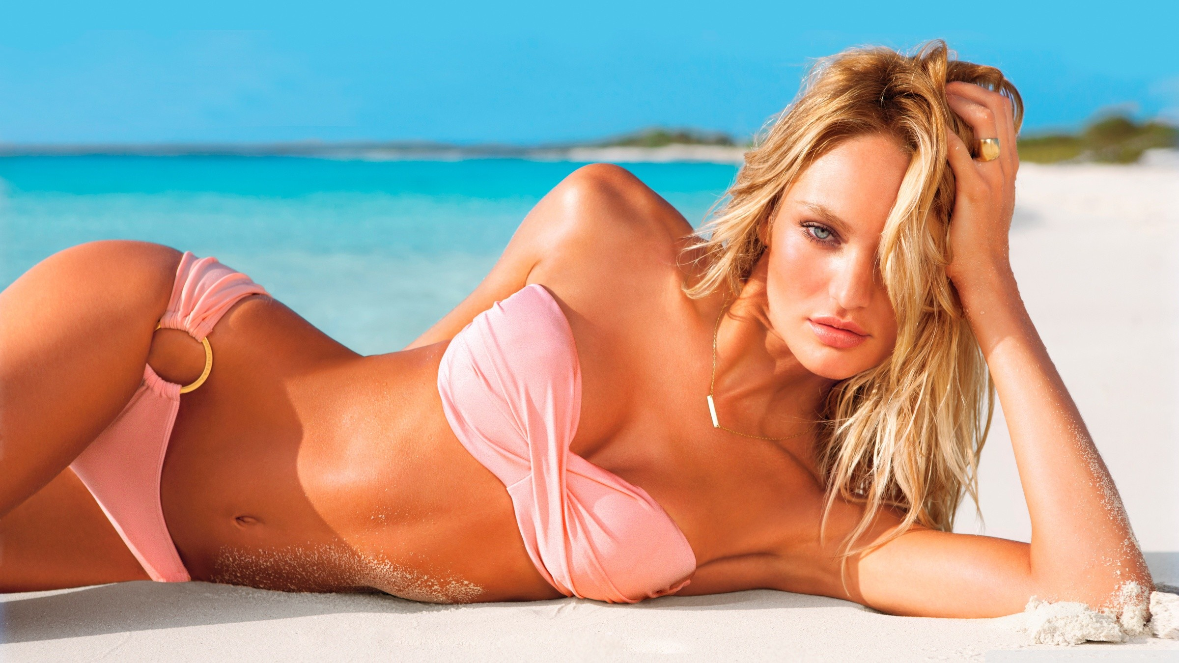 Candice Swanepoel Hot for Victoria's Secret Swimsuit 2012 HD Wide Wallpaper  for Widescreen
