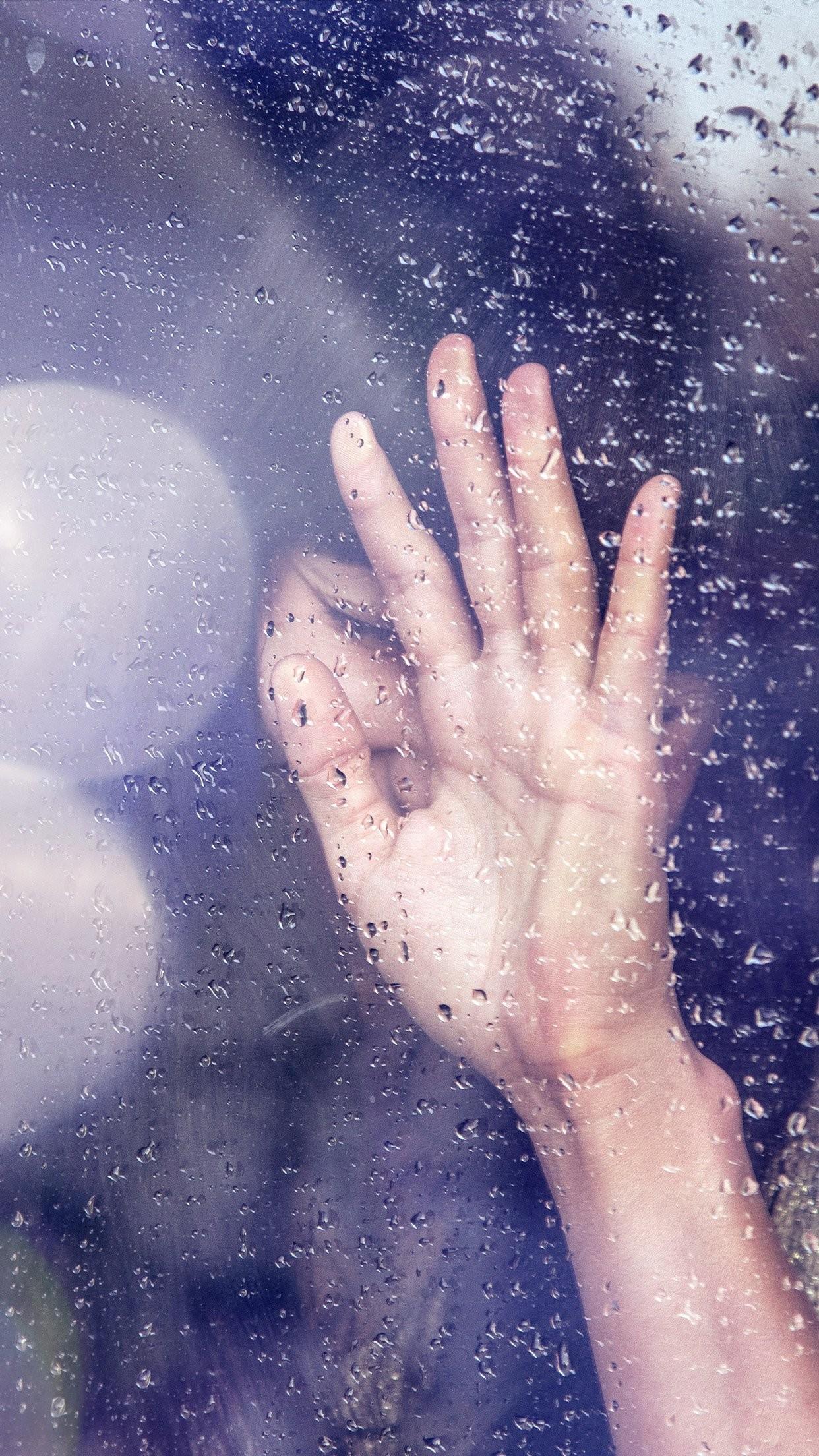 … rain girl shy asian nature hand flare iphone 7 wallpaper …