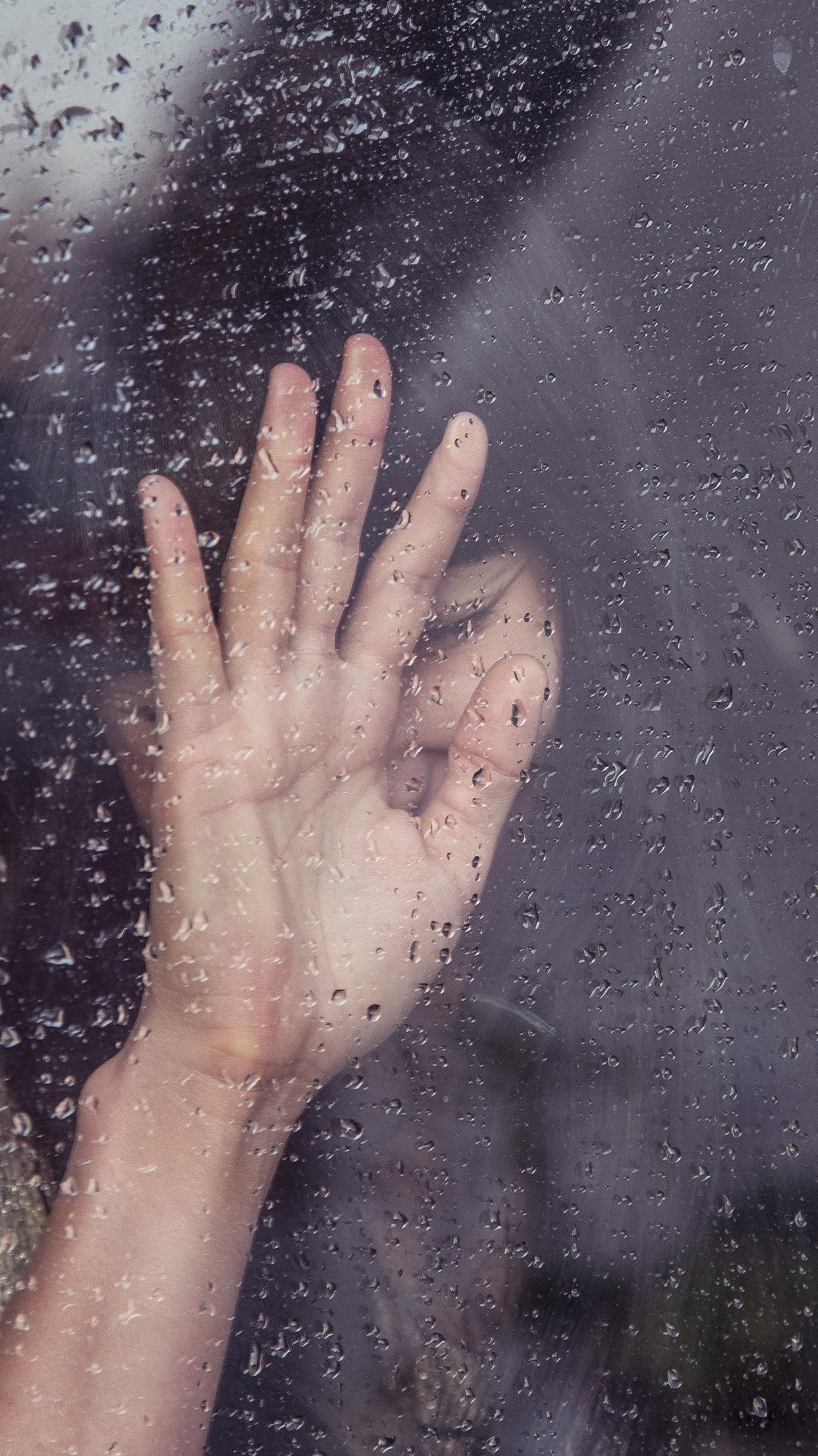 … rain girl shy asian nature iphone 7 wallpaper …