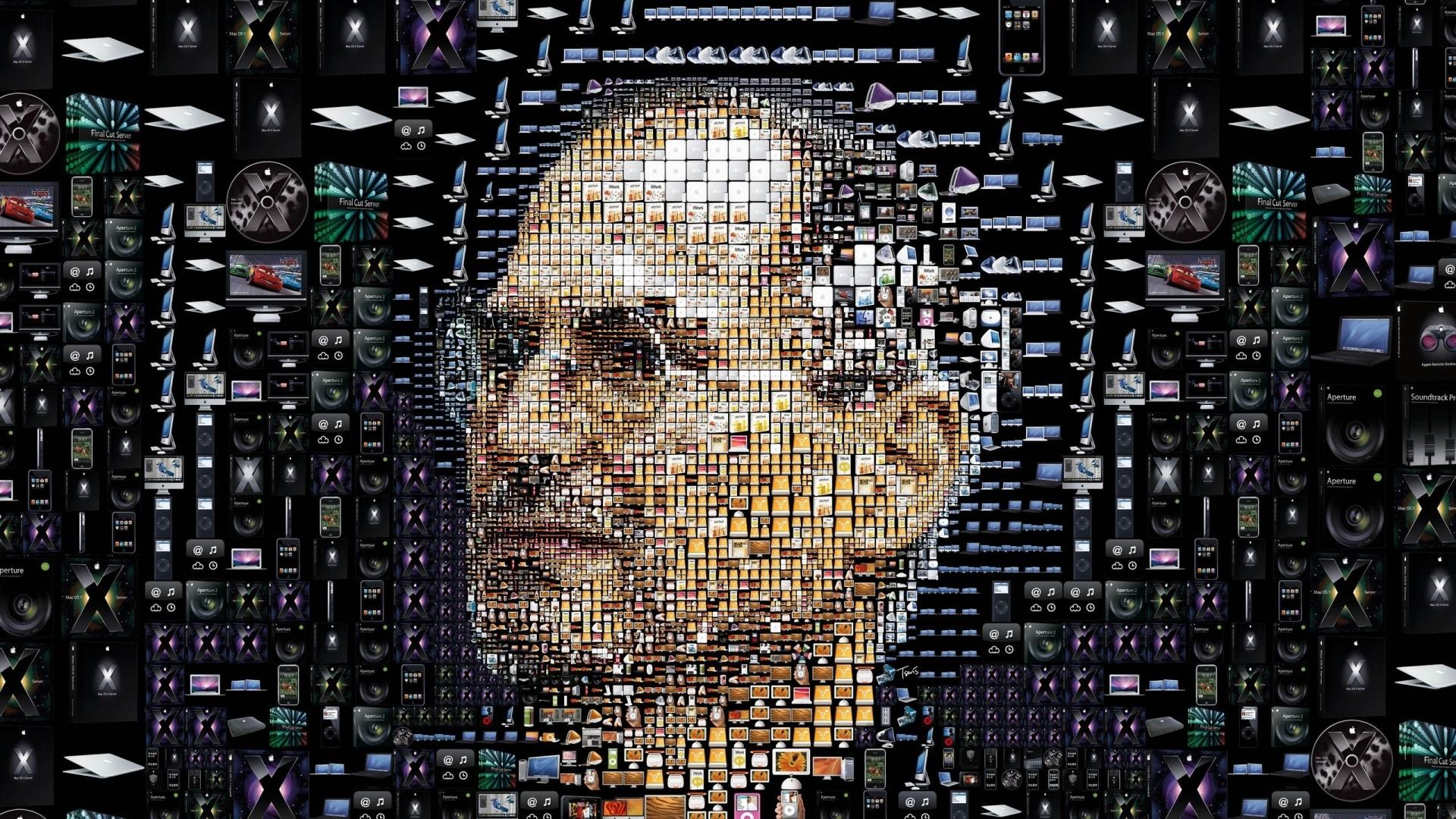 Wallpaper apple, mac, brand, steve jobs, face, portrait