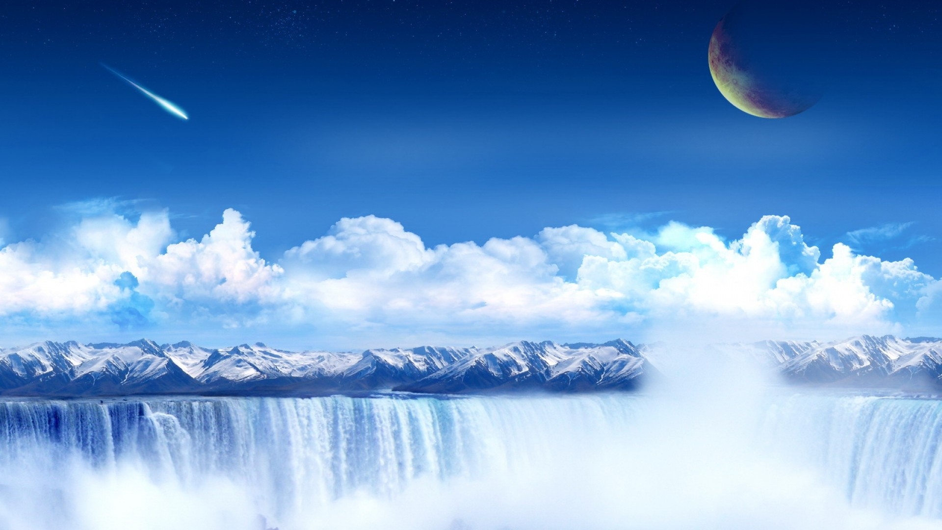 Wallpaper planet, heavens, clouds, light, porous, world, paradise