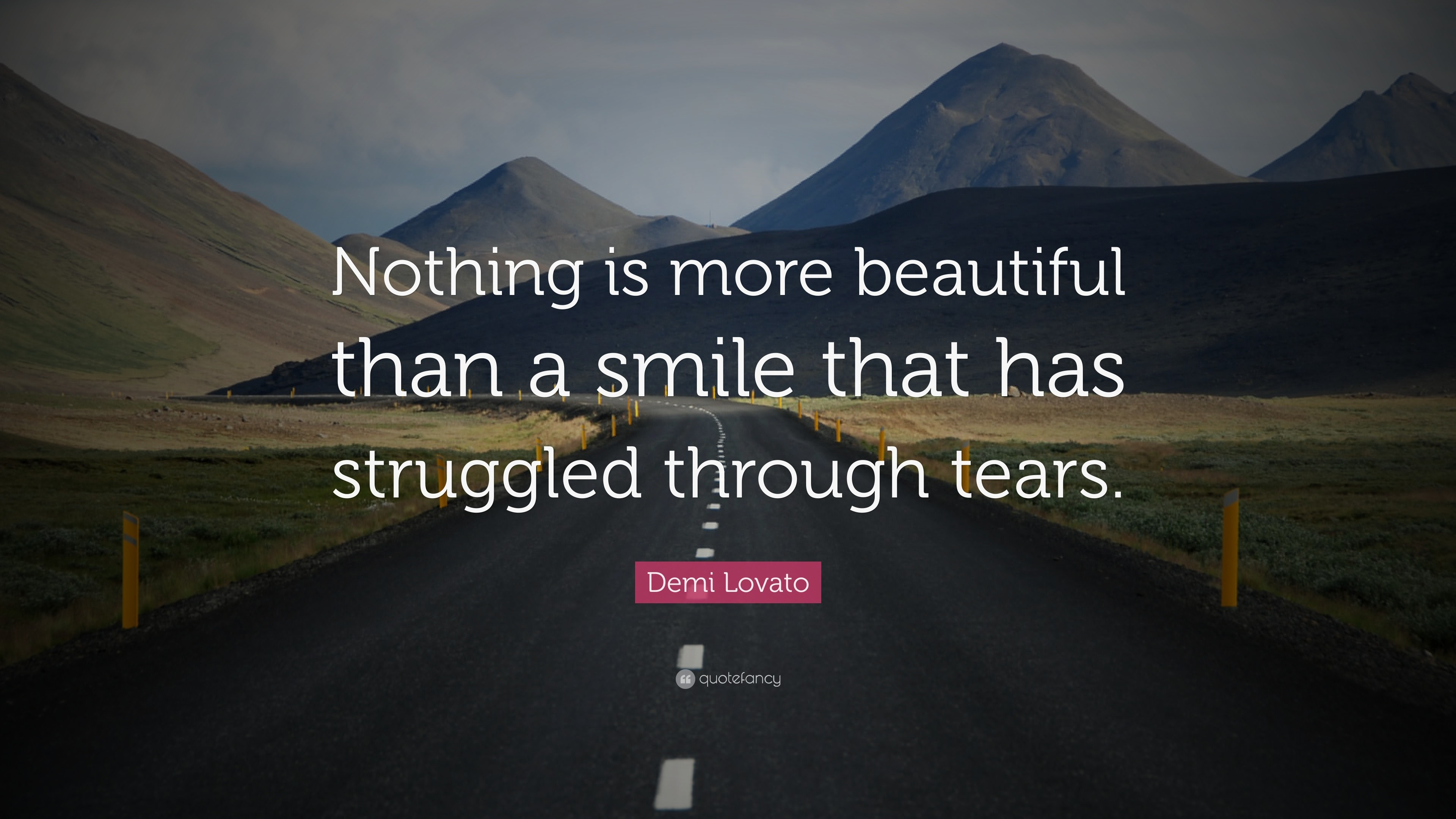 """Smile Quotes: """"Nothing is more beautiful than a smile that has struggled  through tears"""