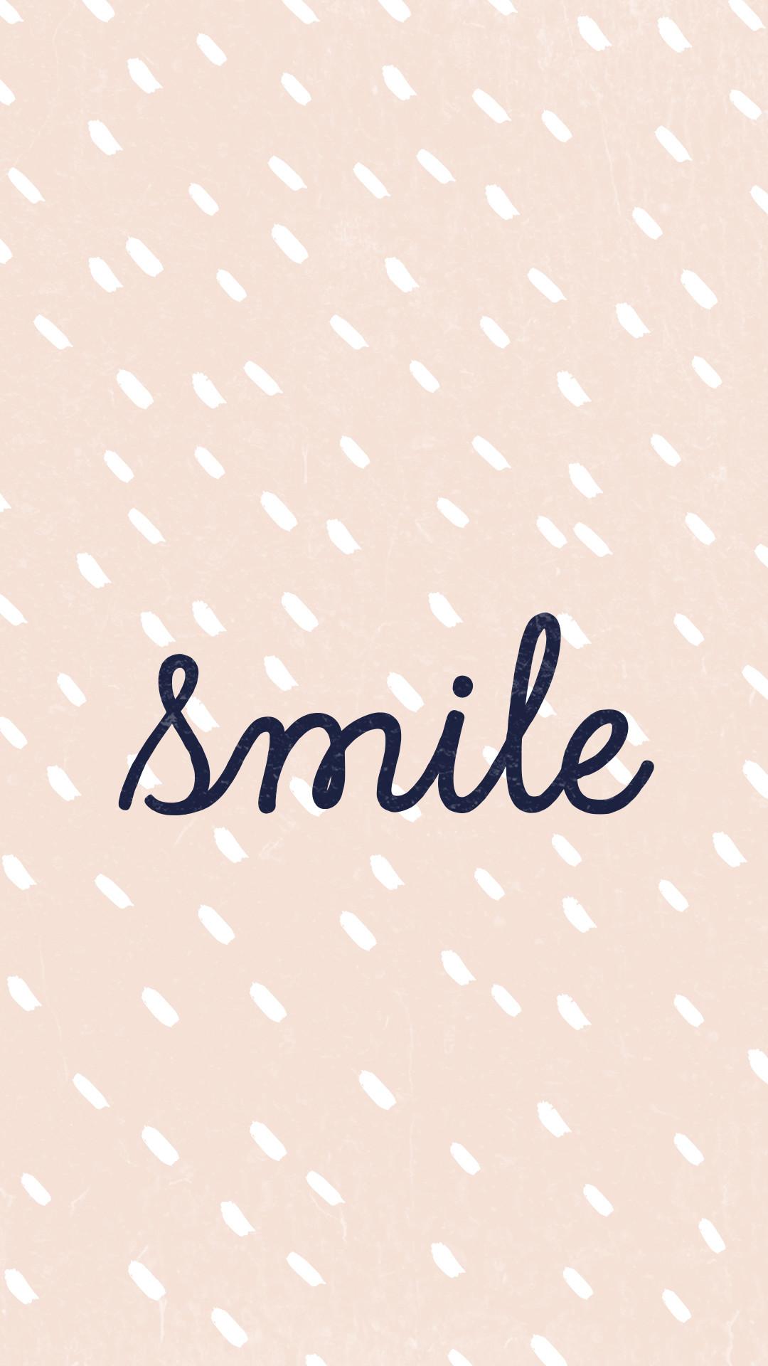 Smile like a girl ;