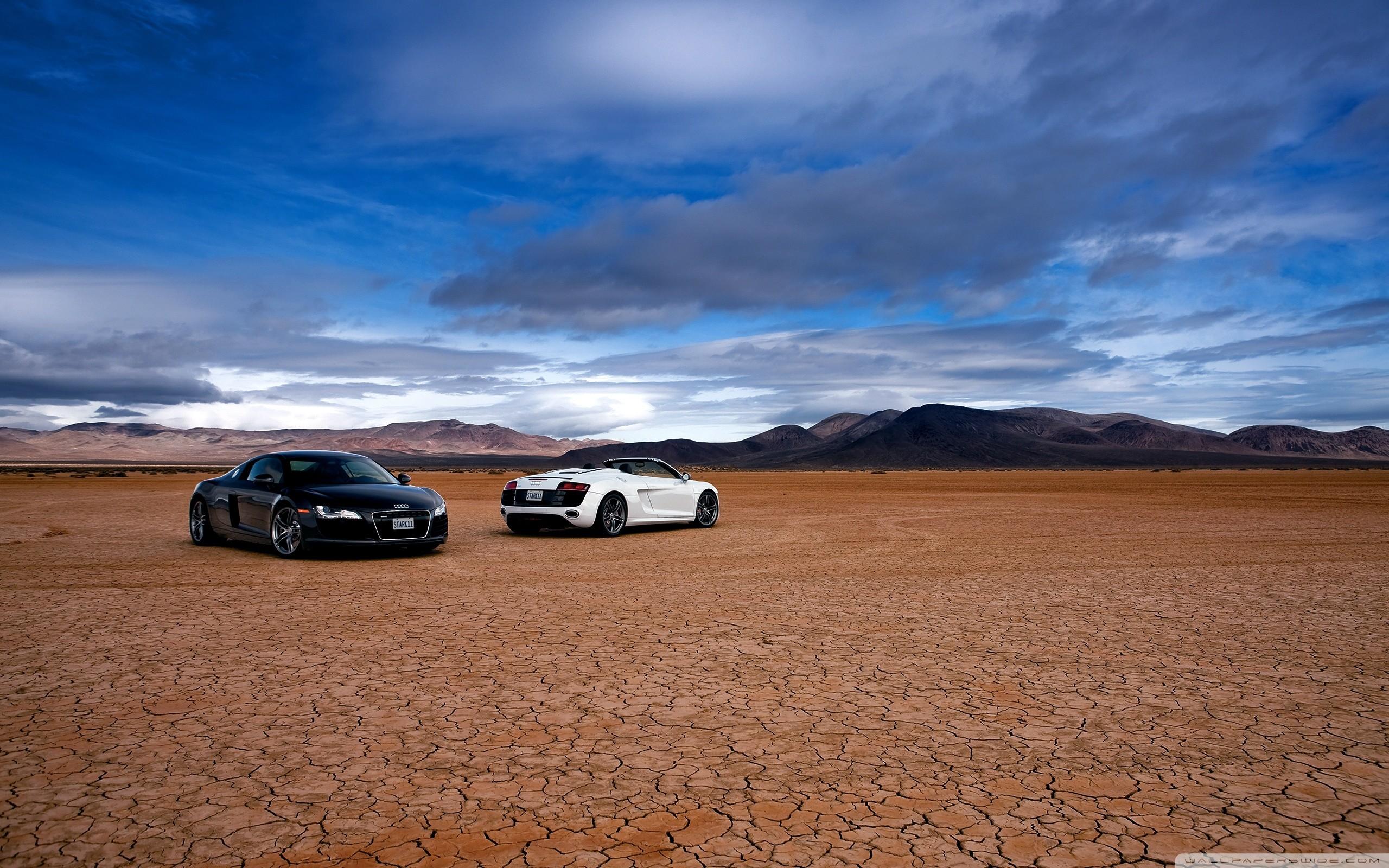 Audi R8 In The Desert HD Wide Wallpaper for Widescreen