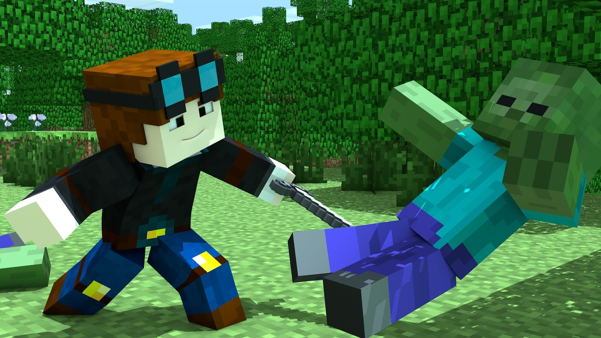 Minecraft | FACEPLANT SIMULATOR!! | DanTDM Animated – YouTube