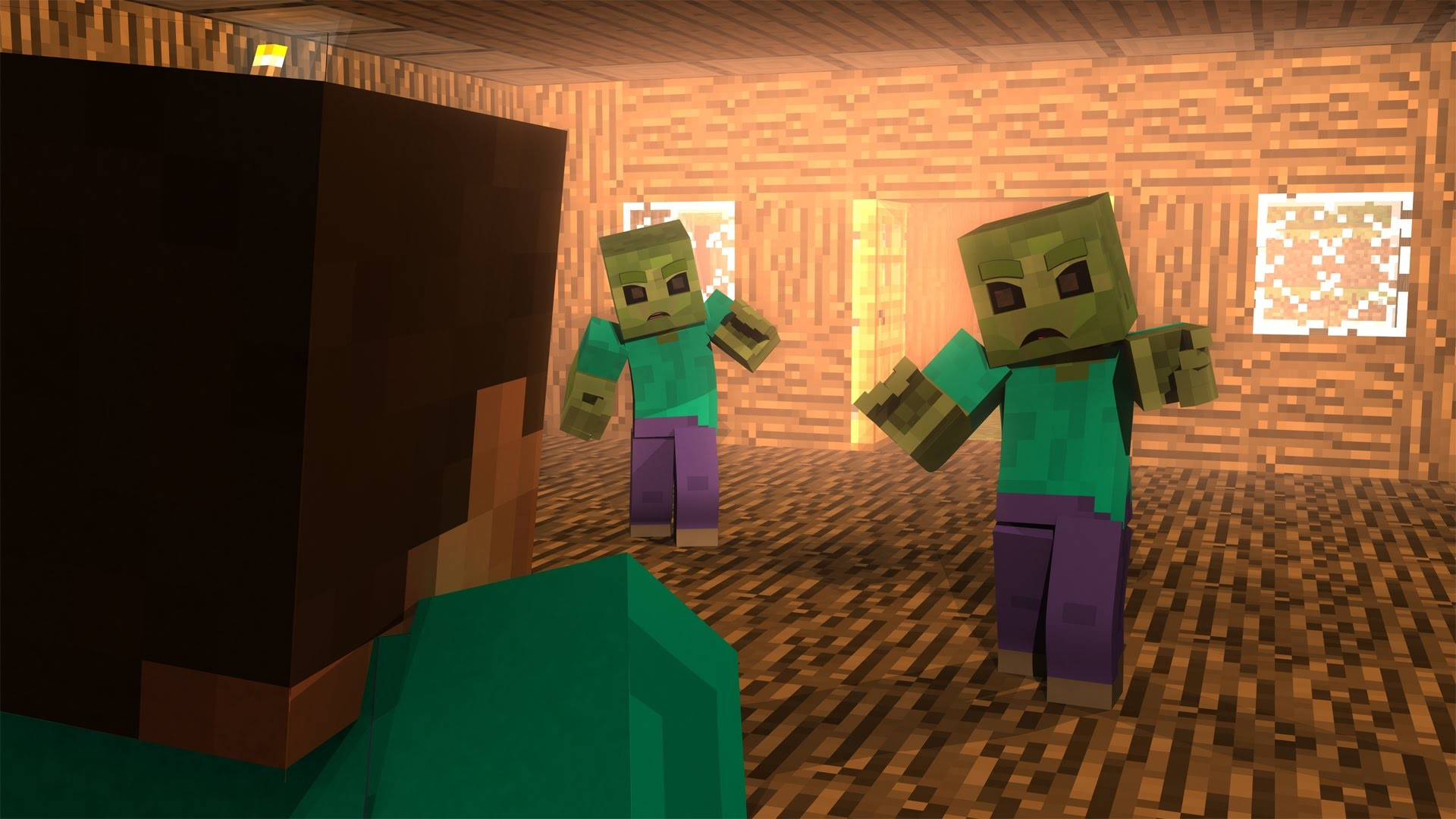 """[FREE DOWNLOAD] Minecraft HD 4K Wallpaper – """"Zombie Attack"""" – YouTube"""