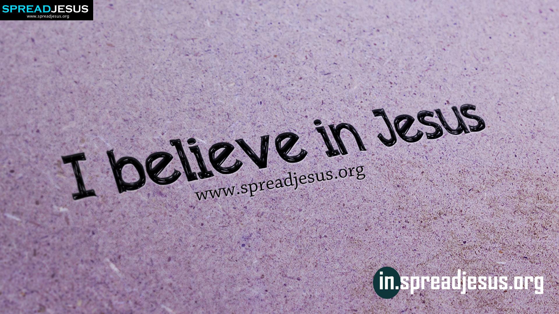 I believe in Jesus HD-wallpaper