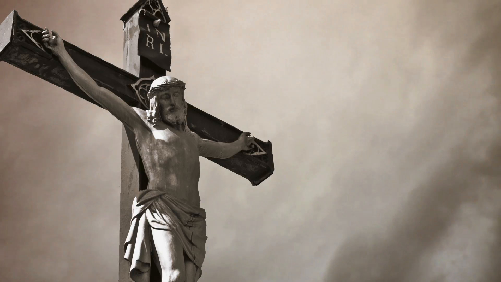 Christian cross with Jesus Christ statue over stormy clouds time lapse.  1920×1080, 1080p, hd format Stock Video Footage – VideoBlocks