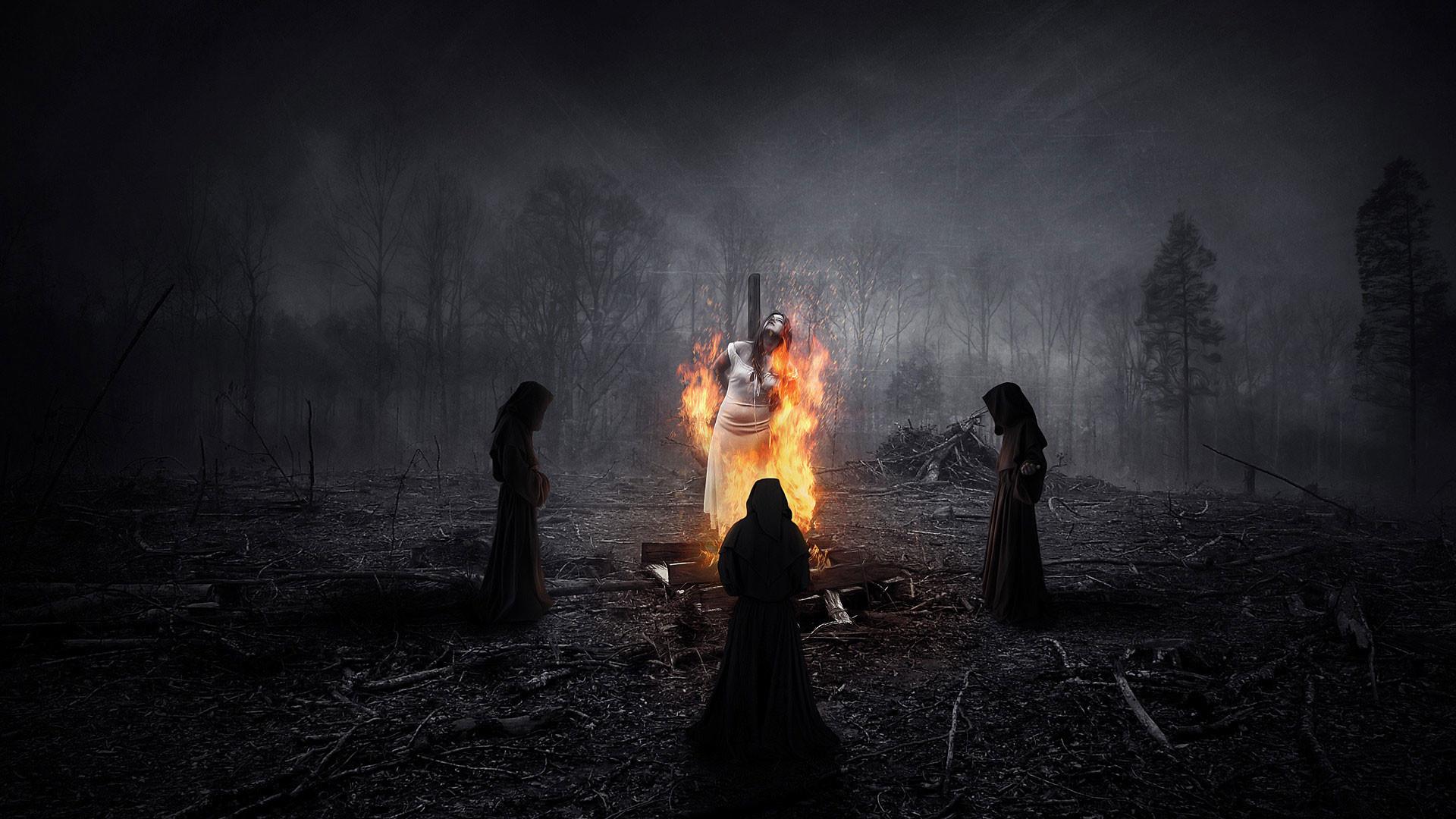 hd pics photos best christian night horror fire myth satan girl fantasy  witch hd quality desktop