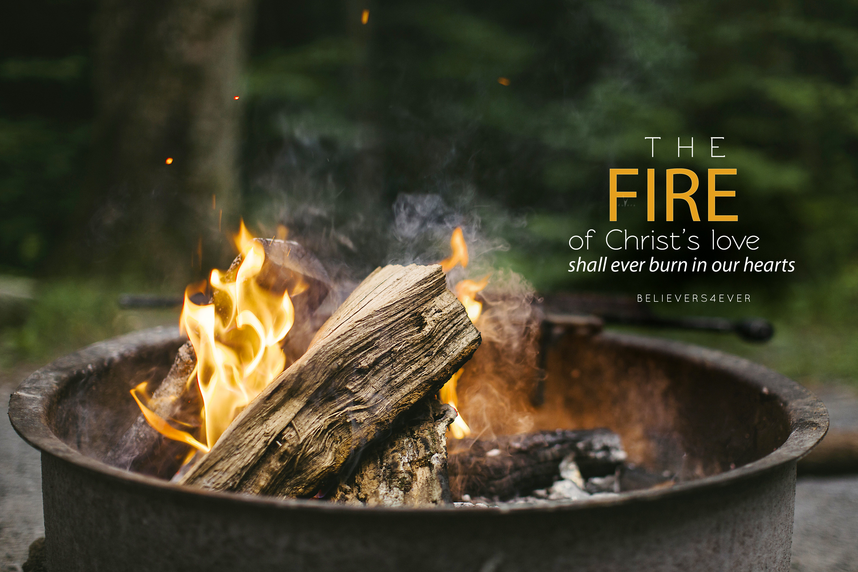 The fire of Christ's love shall ever burn in our hearts. Free Christian  desktop HD