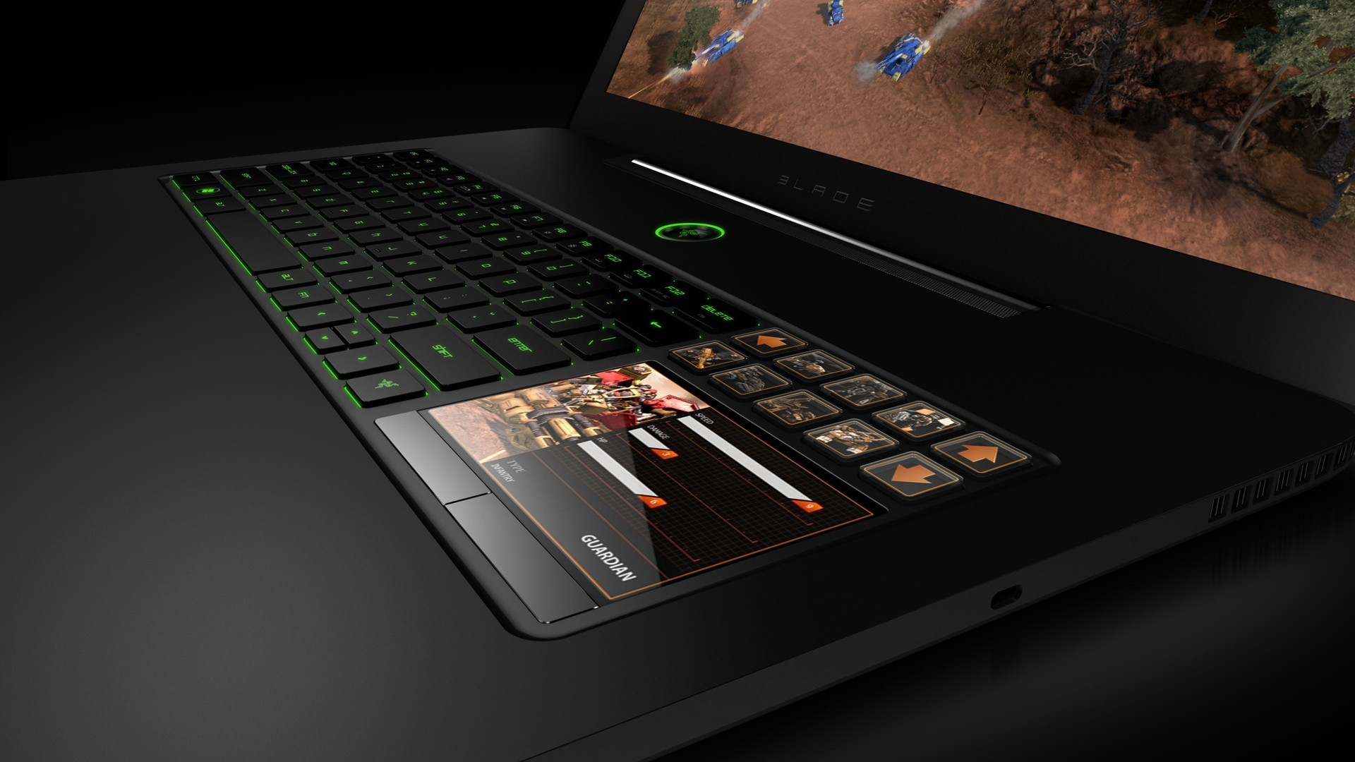 Preview wallpaper laptop, keyboard, buttons, monitor 1920×1080