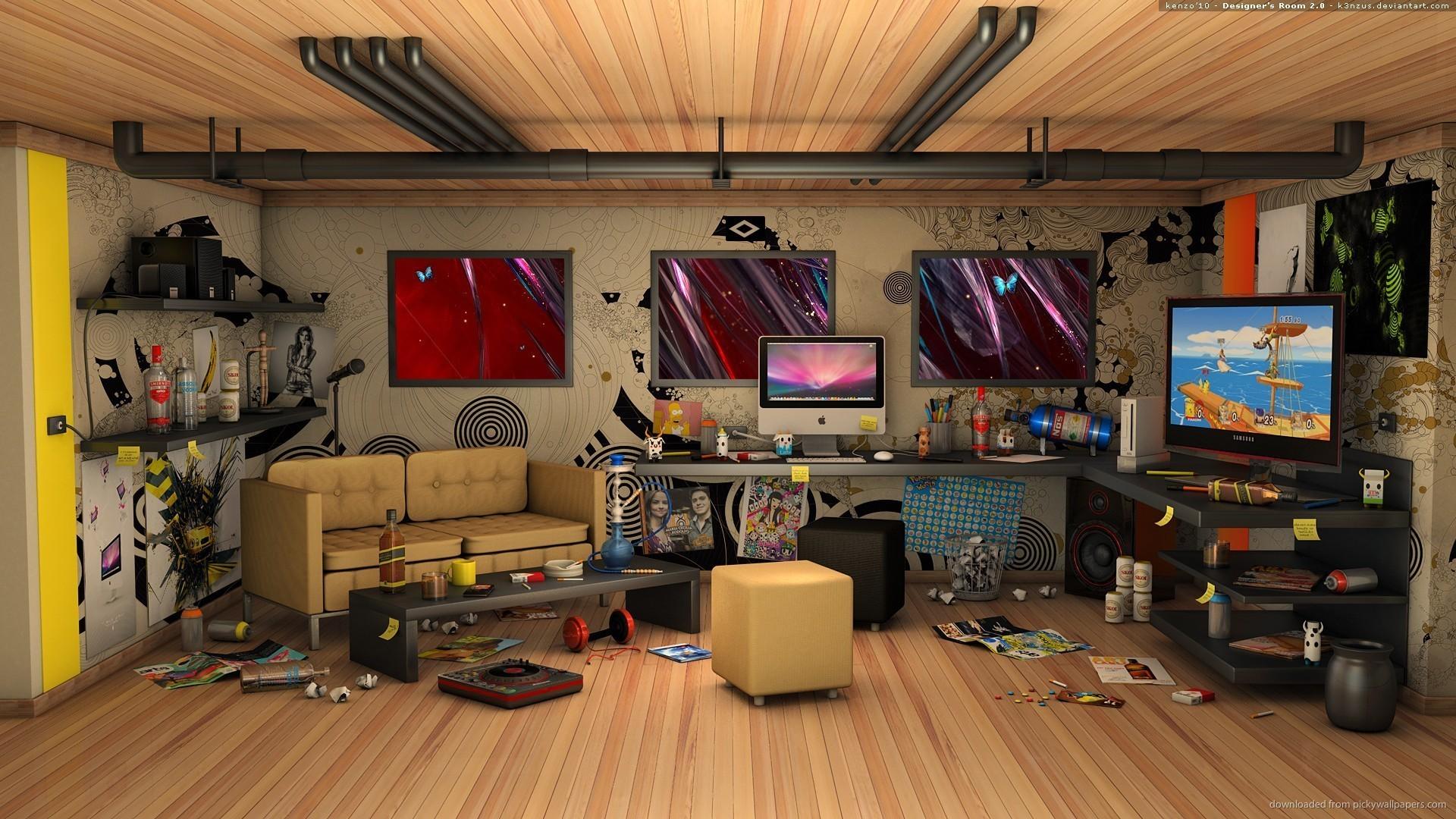 Perfect hi-tech room for 1920×1080