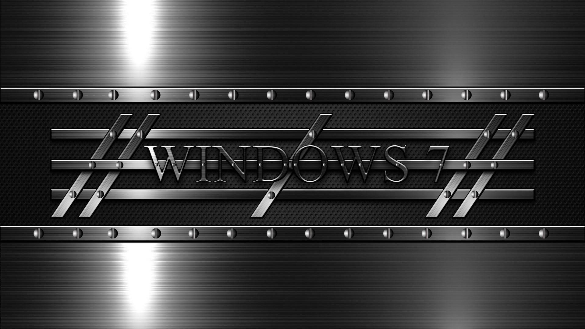 Preview wallpaper windows 7, 3d, background, black 1920×1080
