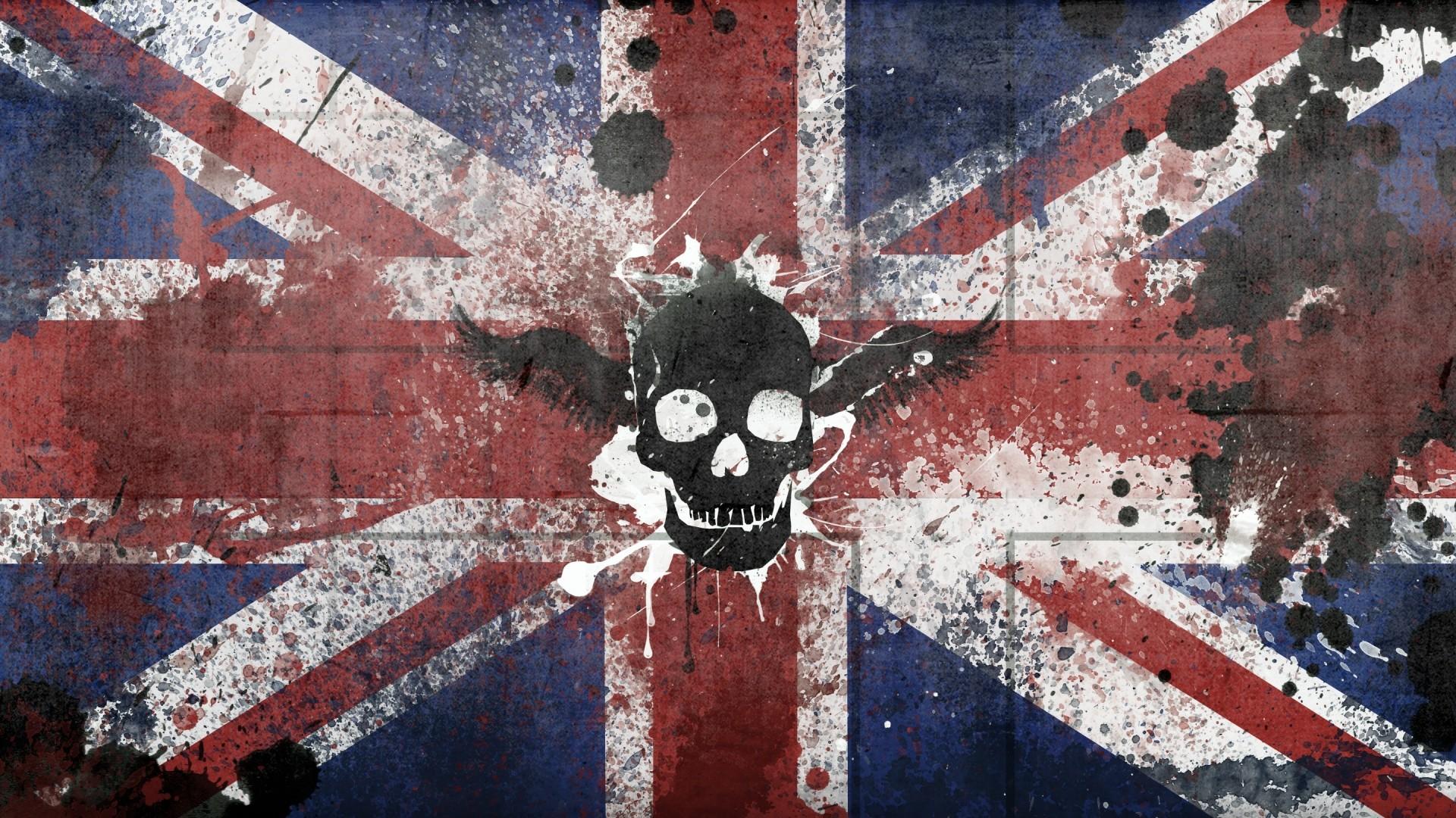 … Background Full HD 1080p. Wallpaper britain, united kingdom,  symbols, flag, color, skull