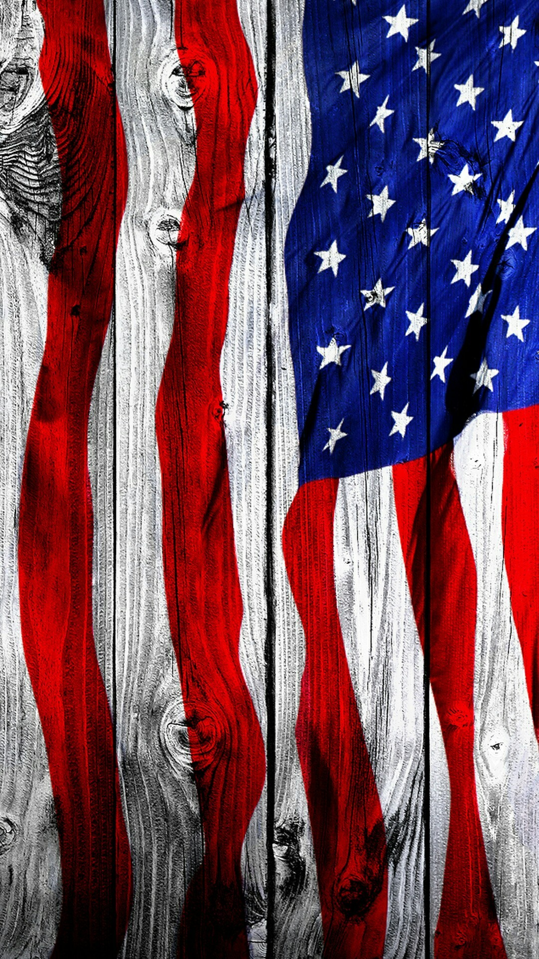 Paint your fence- American flag