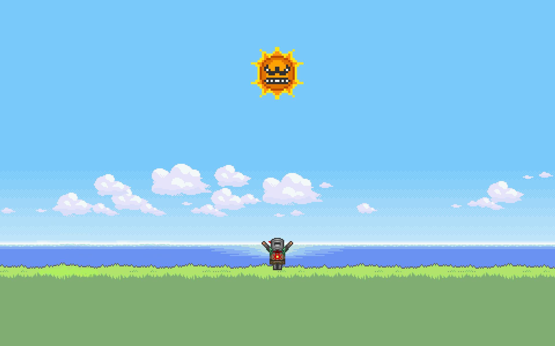 My Praise the Angry Sun Desktop Background.