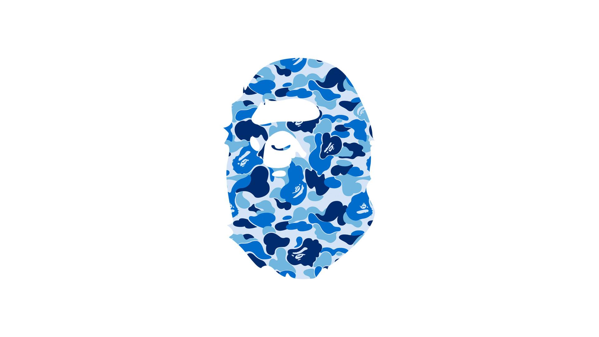 3/3 Bape Blue Camo Ape Head Wallpaper