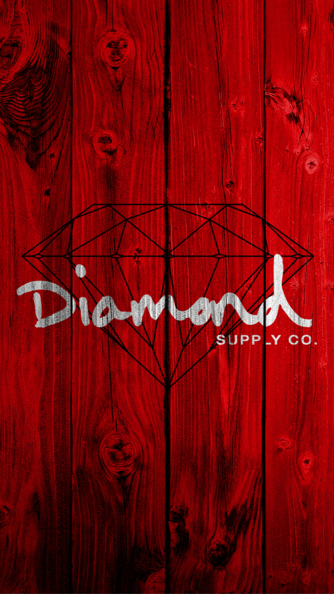 Red Wooden Diamond Painting Art Drawn iPhone 6 wallpaper