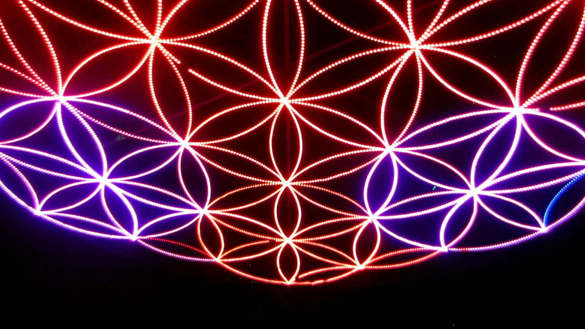 Flower of Life Art at Enchanted Forest Festival