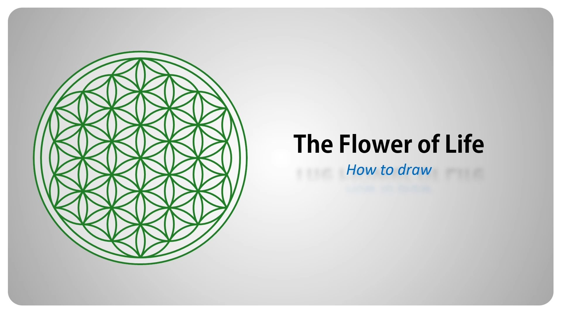 How to draw the Flower of Life – Sacred Geometry – step by step tutorial  (english) – YouTube