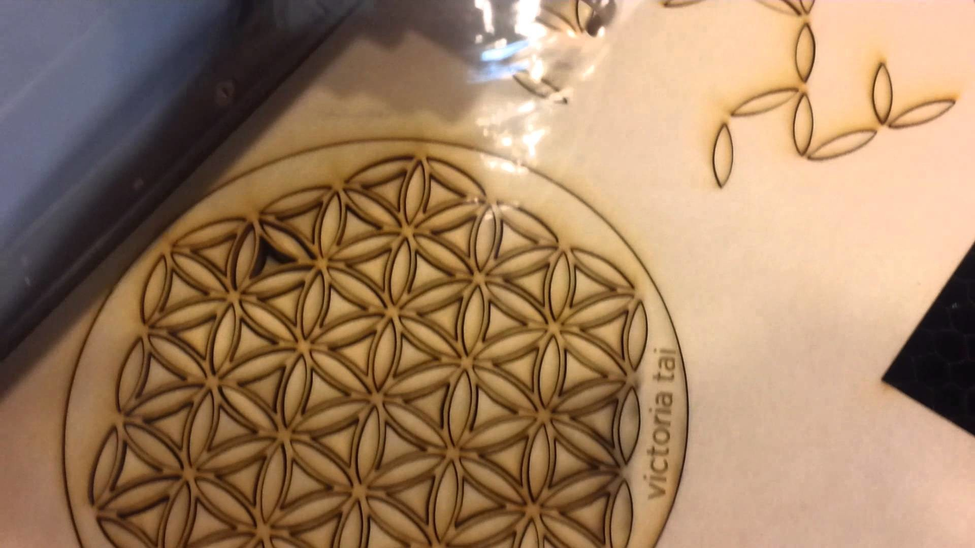 Flower of Life Laser Cutting Wood