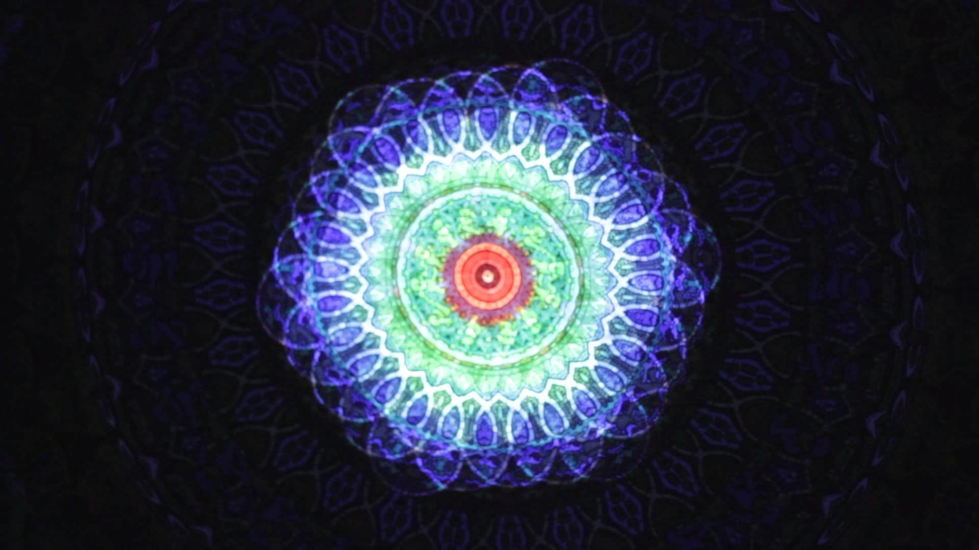 Flower of Life Projection on Tapestry