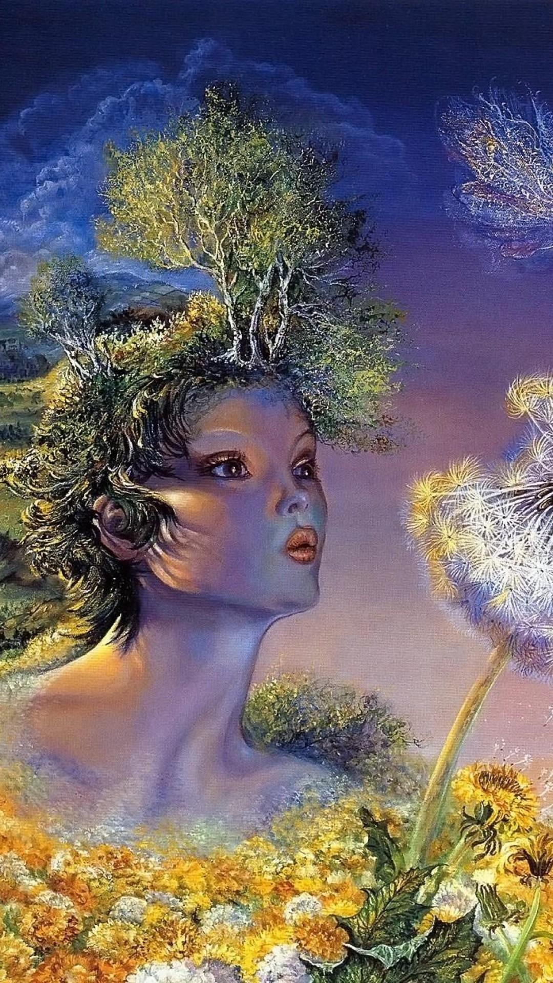 Wallpaper goddess, breathing, flower, angels, life