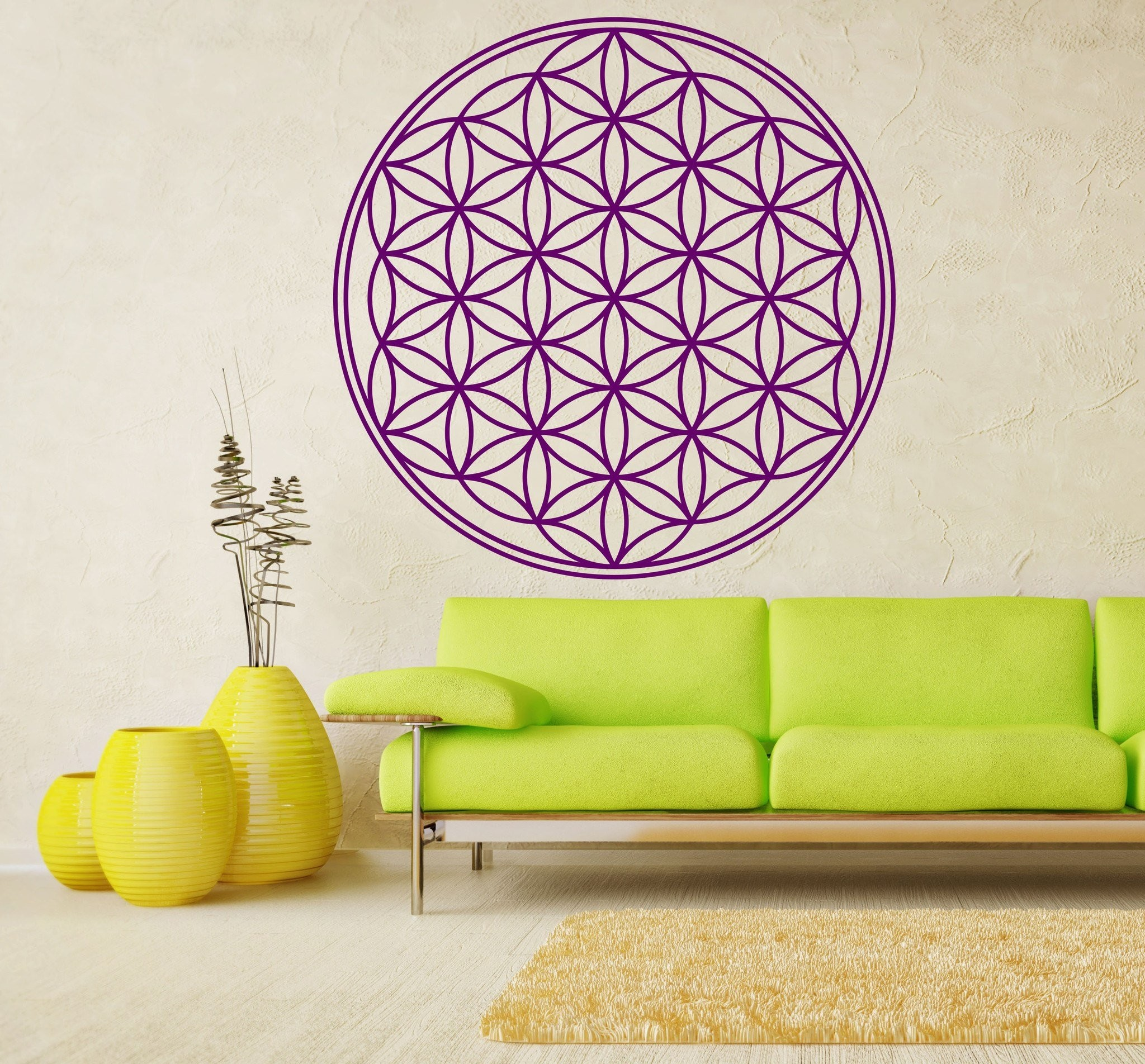 Flower of Life – Sacred Geometry Vinyl Wall Decal – The Personalized Gift  Co.