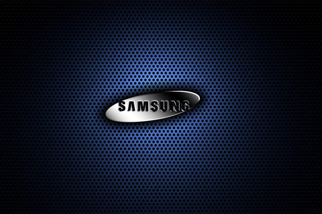 Samsung-Blue-Metal-Logo-Wallpaper-HD | TechFreaksNL