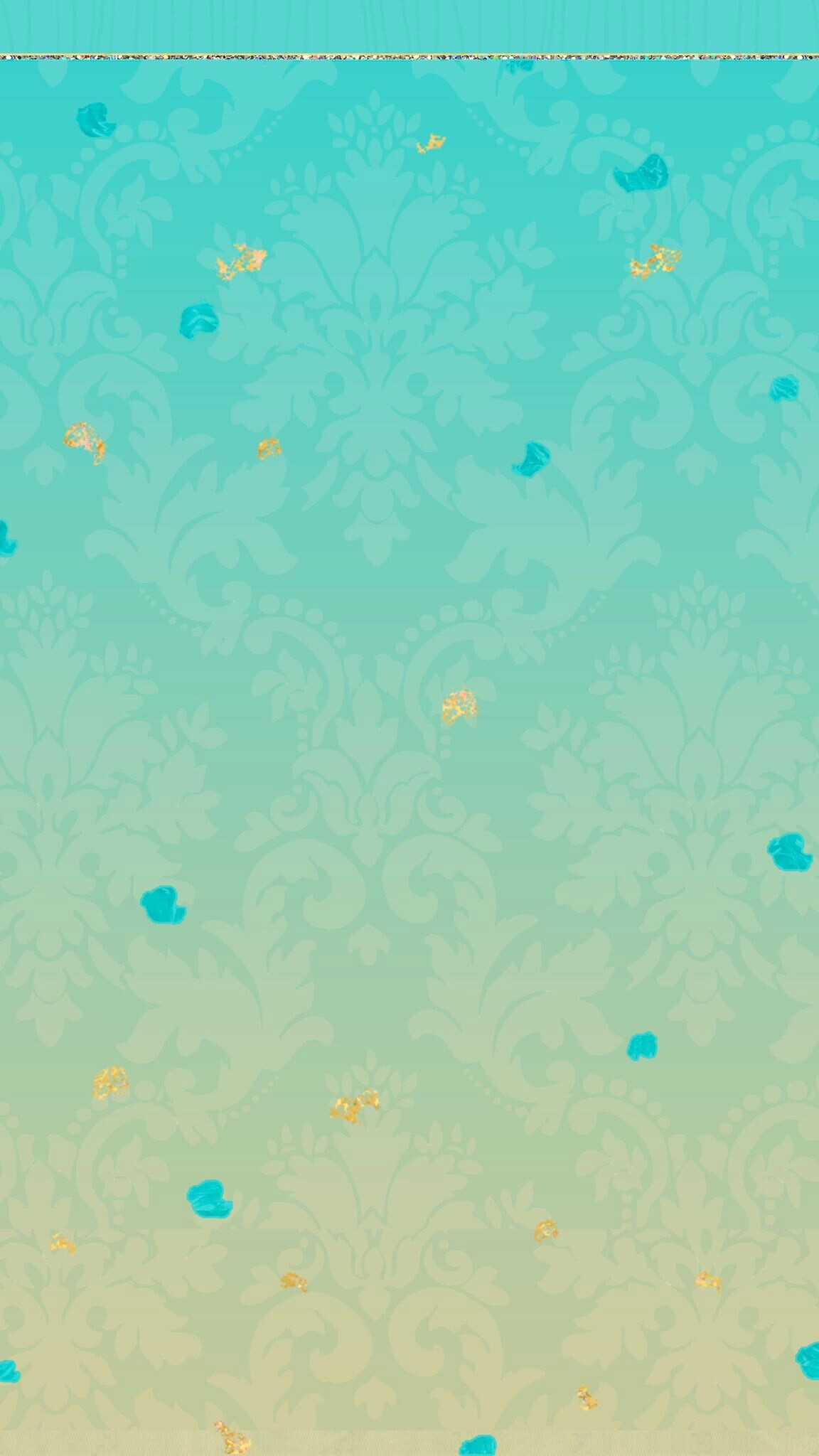 Cute Wallpapers, Iphone Wallpaper, Paisley, Aqua, Glitter, Girly, Walls,  Pretty