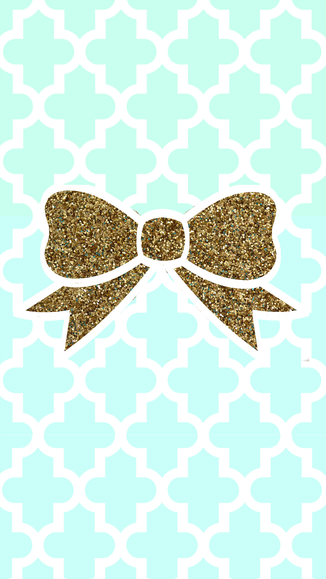 Tiffany blue + gold glitter bow tech wallpaper #FREE. Cute Wallpaper  BackgroundsIphone …