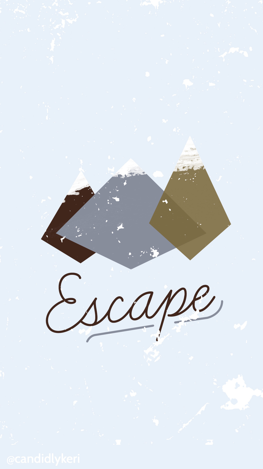 Escape cute mountain winter/fall scene wallpaper you can download for free  on the blog