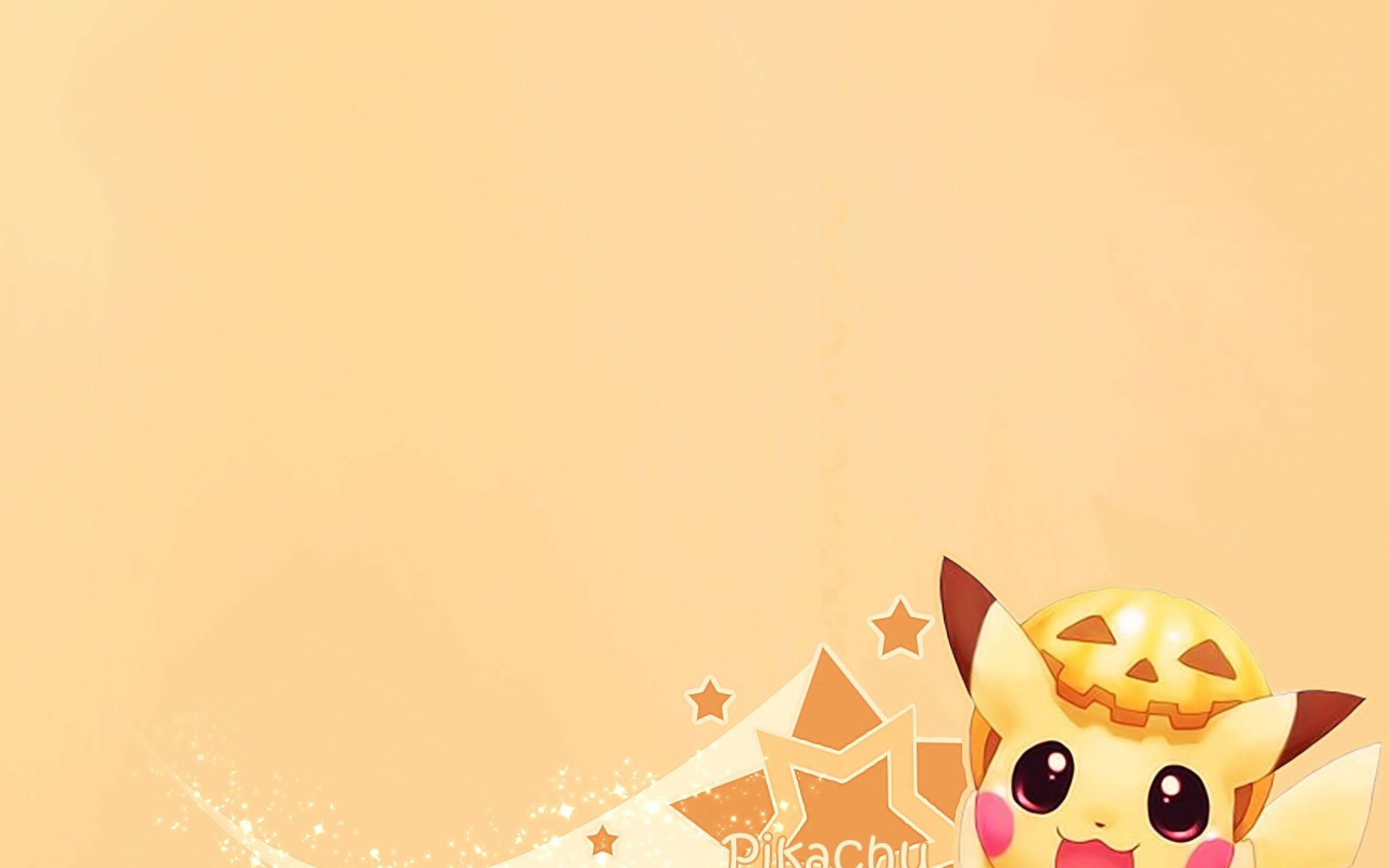 Cute pikachu background wallpaper HD.