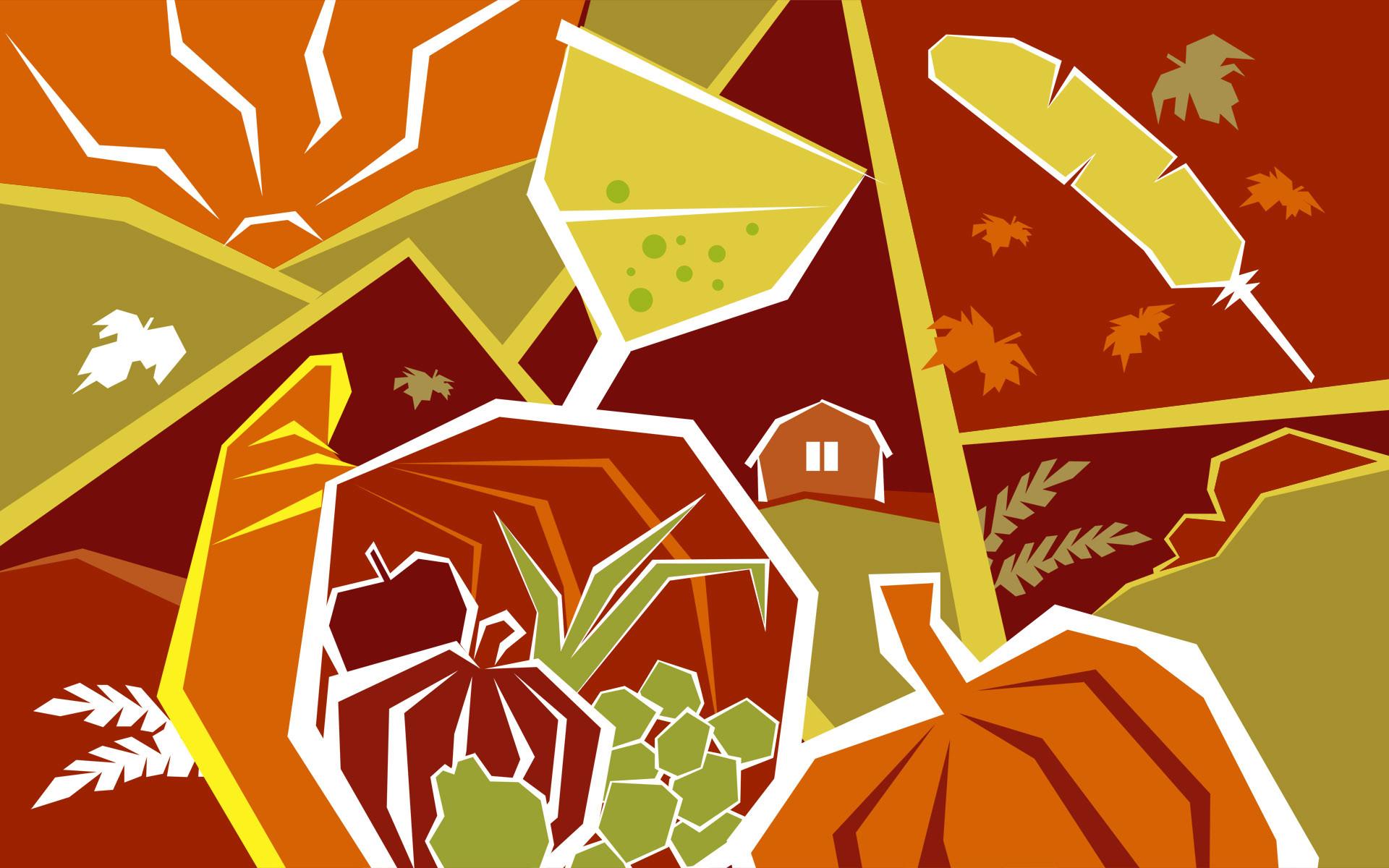 Cute Thanksgiving Background Widescreen.