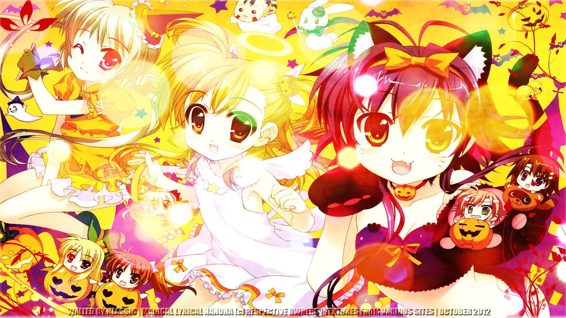 Anime Chibi Background Hd Wallpaper