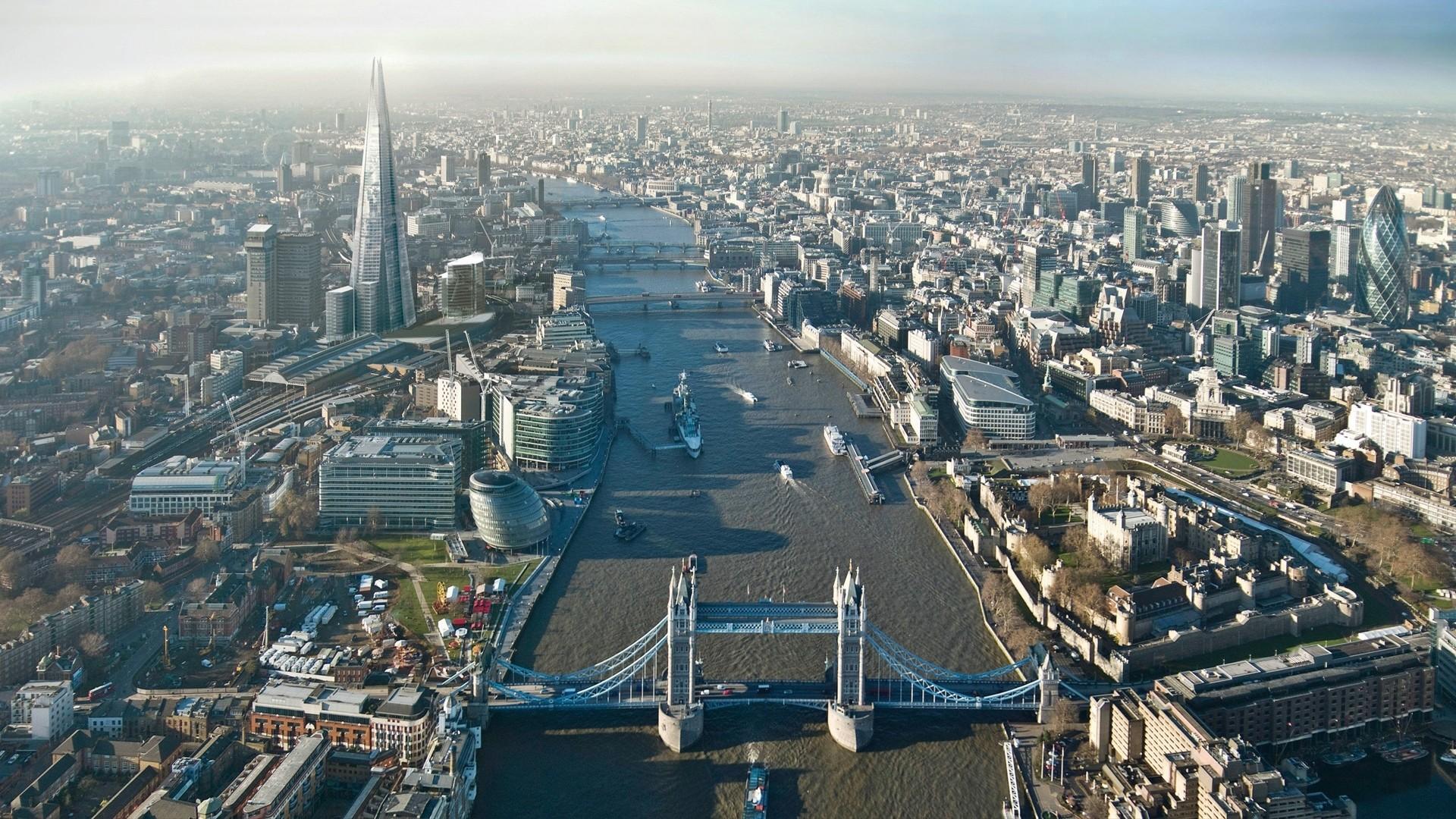 Preview wallpaper london, height, buildings, sky, skyscrapers 1920×1080