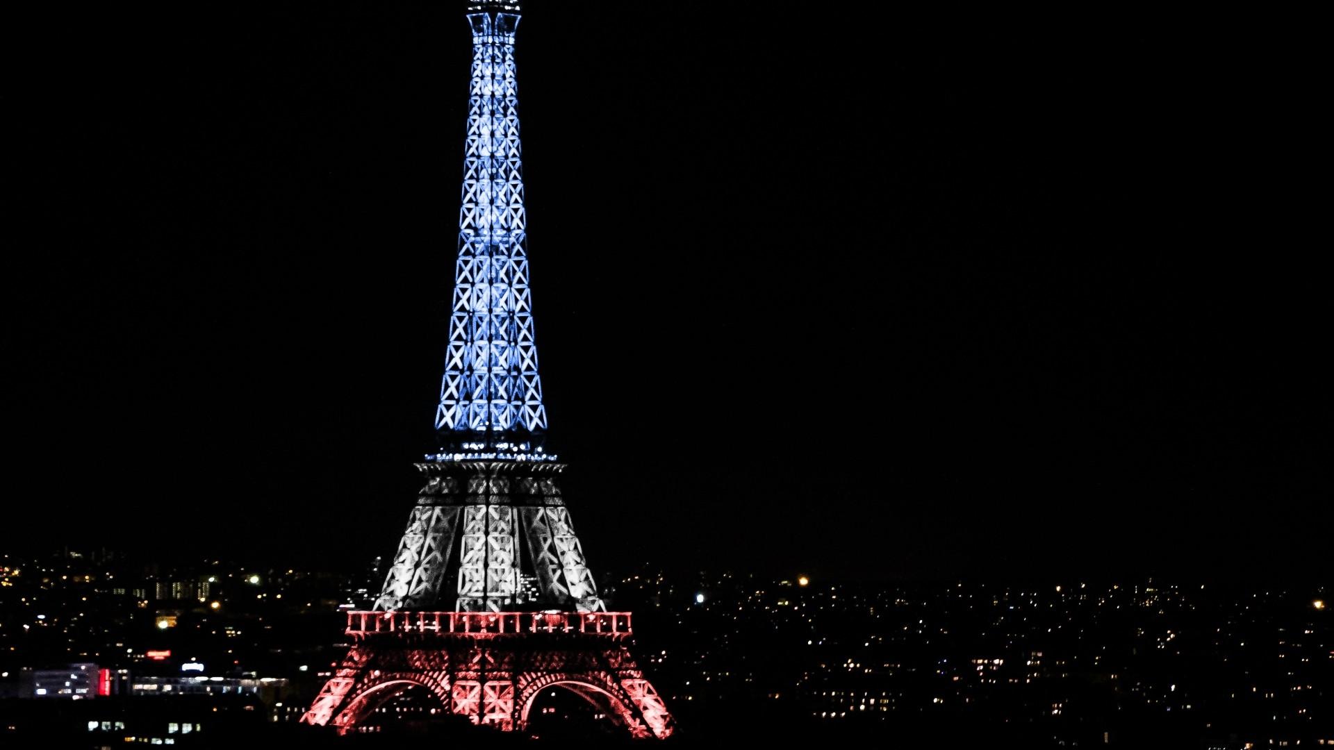 Preview wallpaper eiffel tower, paris, france, night 1920×1080