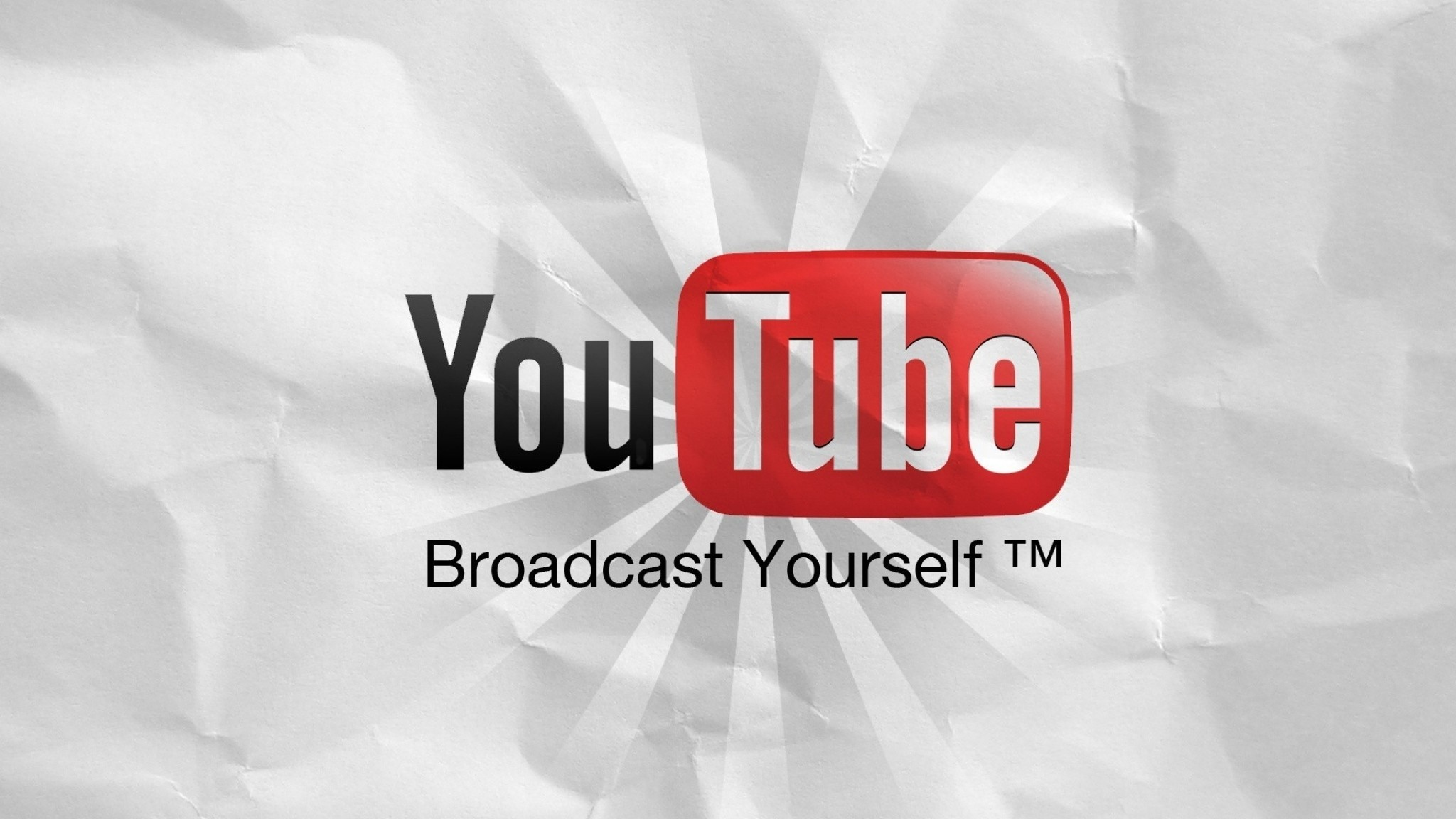 Preview wallpaper youtube, website, video, paper, sheet, white 2048×1152