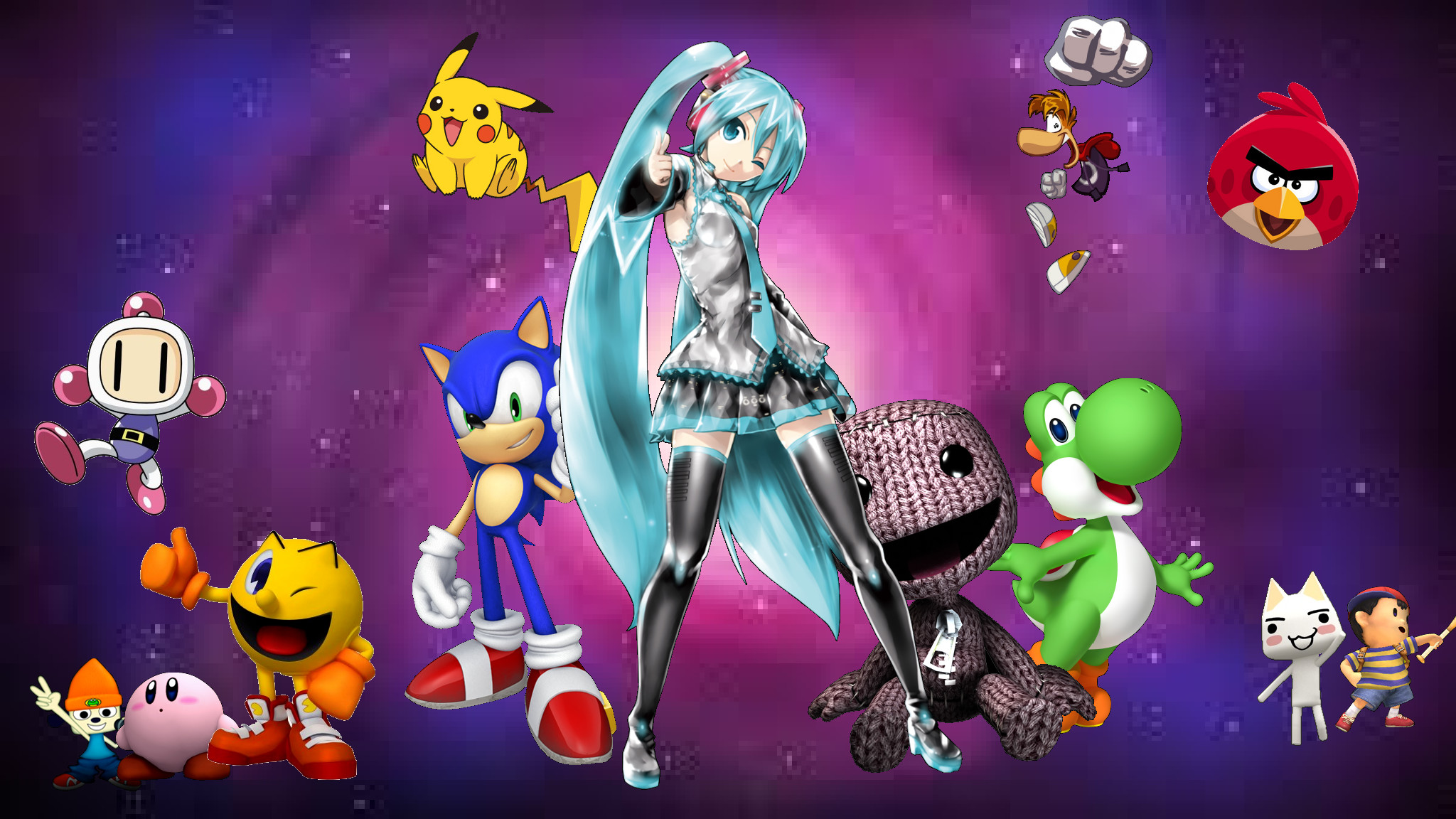 Video Game – Collage Wallpaper