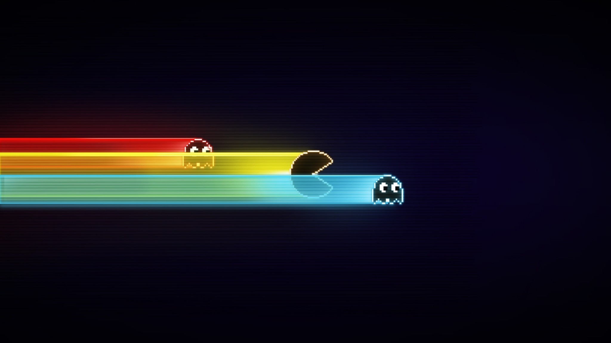 Preview wallpaper pacman, game, graphics, speed, harassment 2048×1152