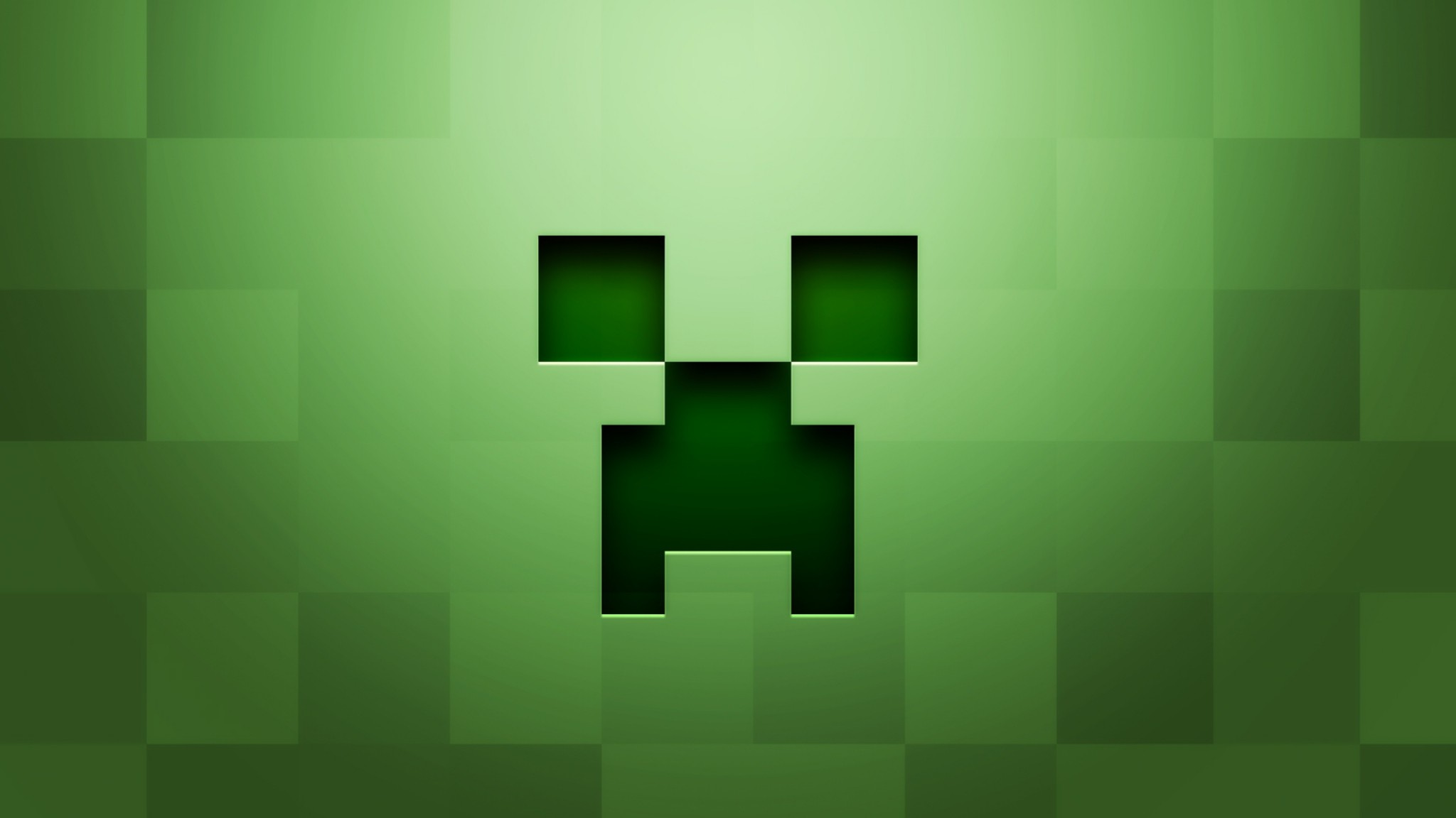Preview wallpaper minecraft, background, graphics, green 2048×1152