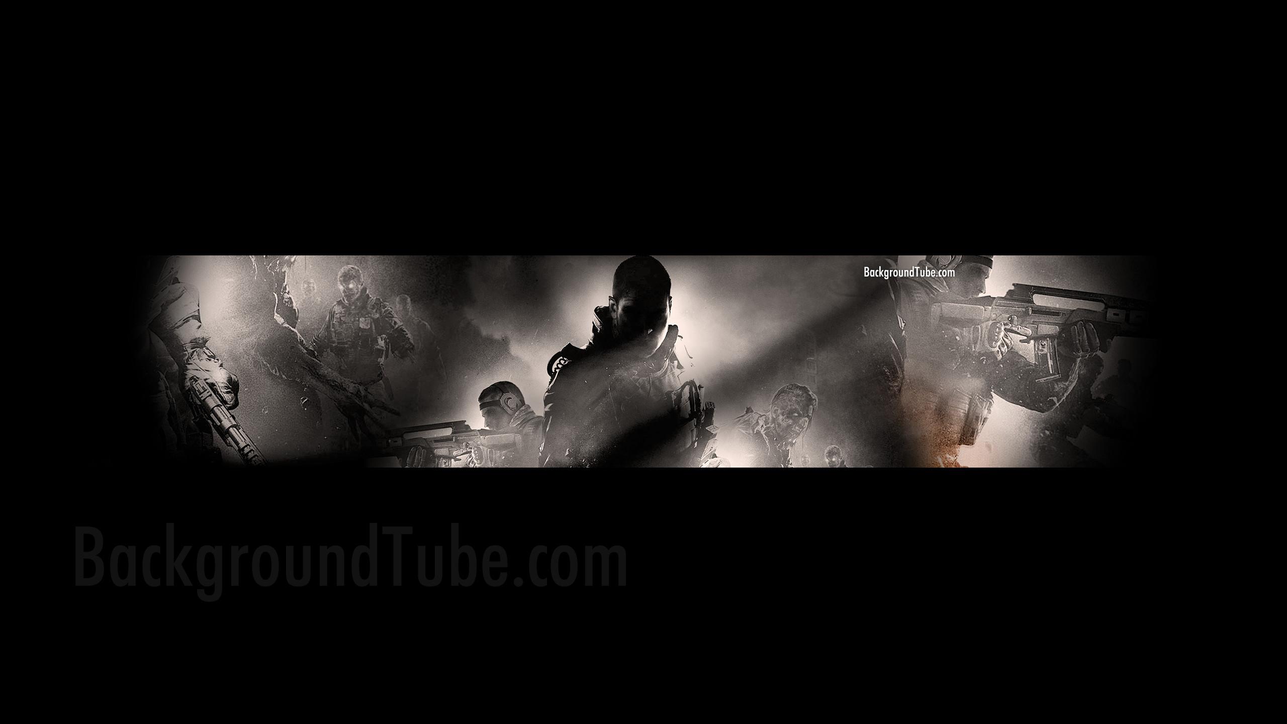Black Ops 2 Shadowed YouTube Channel Art