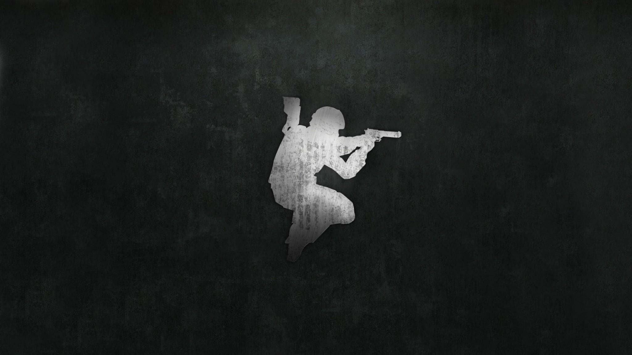 Wallpaper counter-strike, picture, background, pistol, soldier